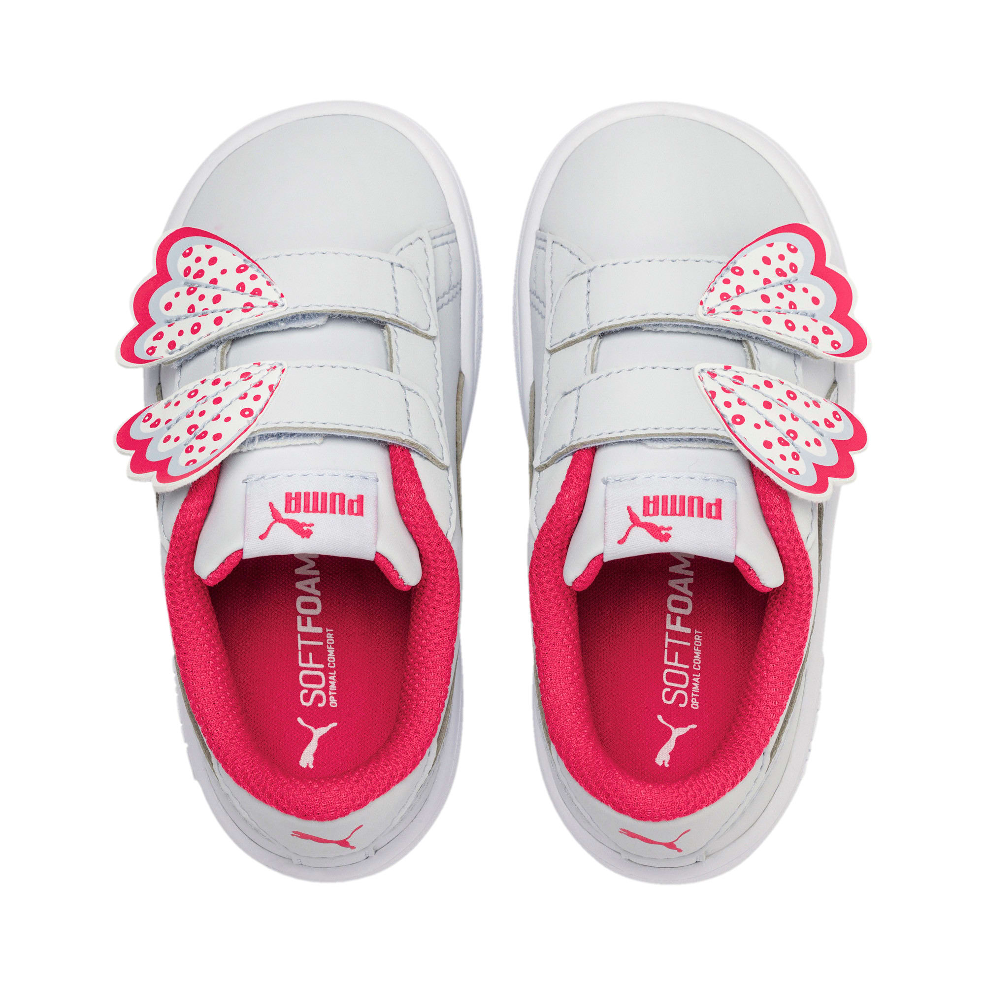 Thumbnail 6 of PUMA Smash v2 Butterfly AC Toddler Shoes, Heather-Nrgy Rose-Puma White, medium