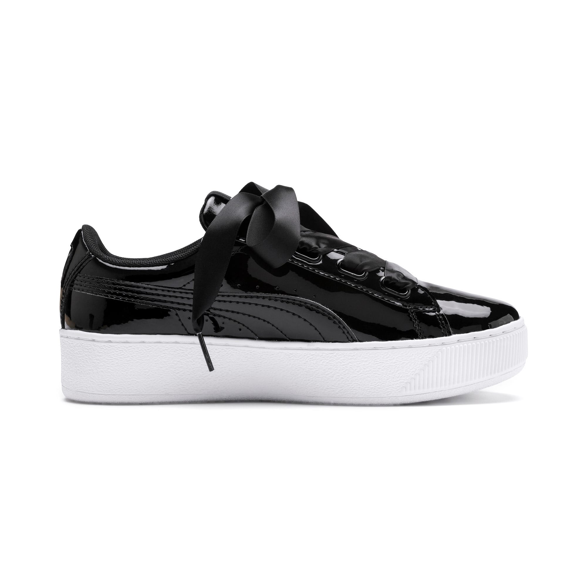 Thumbnail 5 of Vikky Platform Ribbon Patent Girls' Trainers, Puma Black-Puma Black, medium