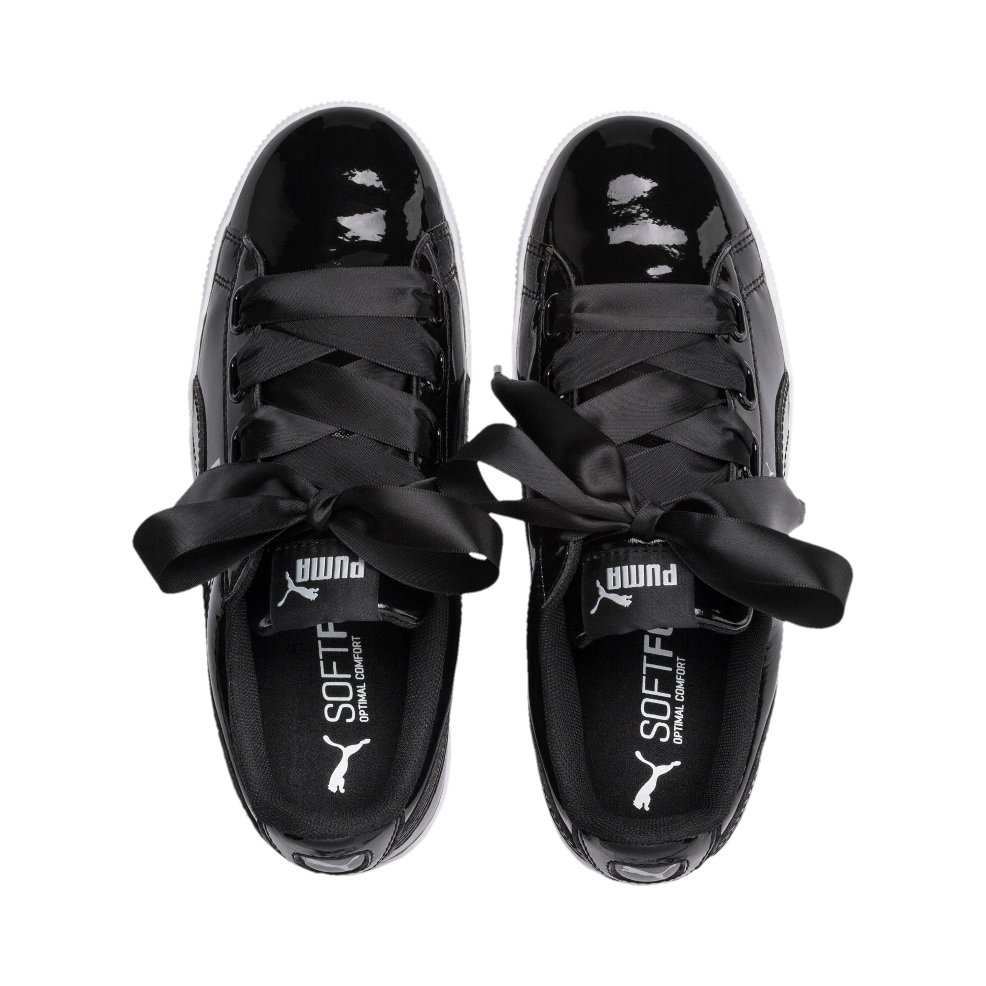 Thumbnail 6 of Vikky Platform Ribbon Patent Girls' Trainers, Puma Black-Puma Black, medium