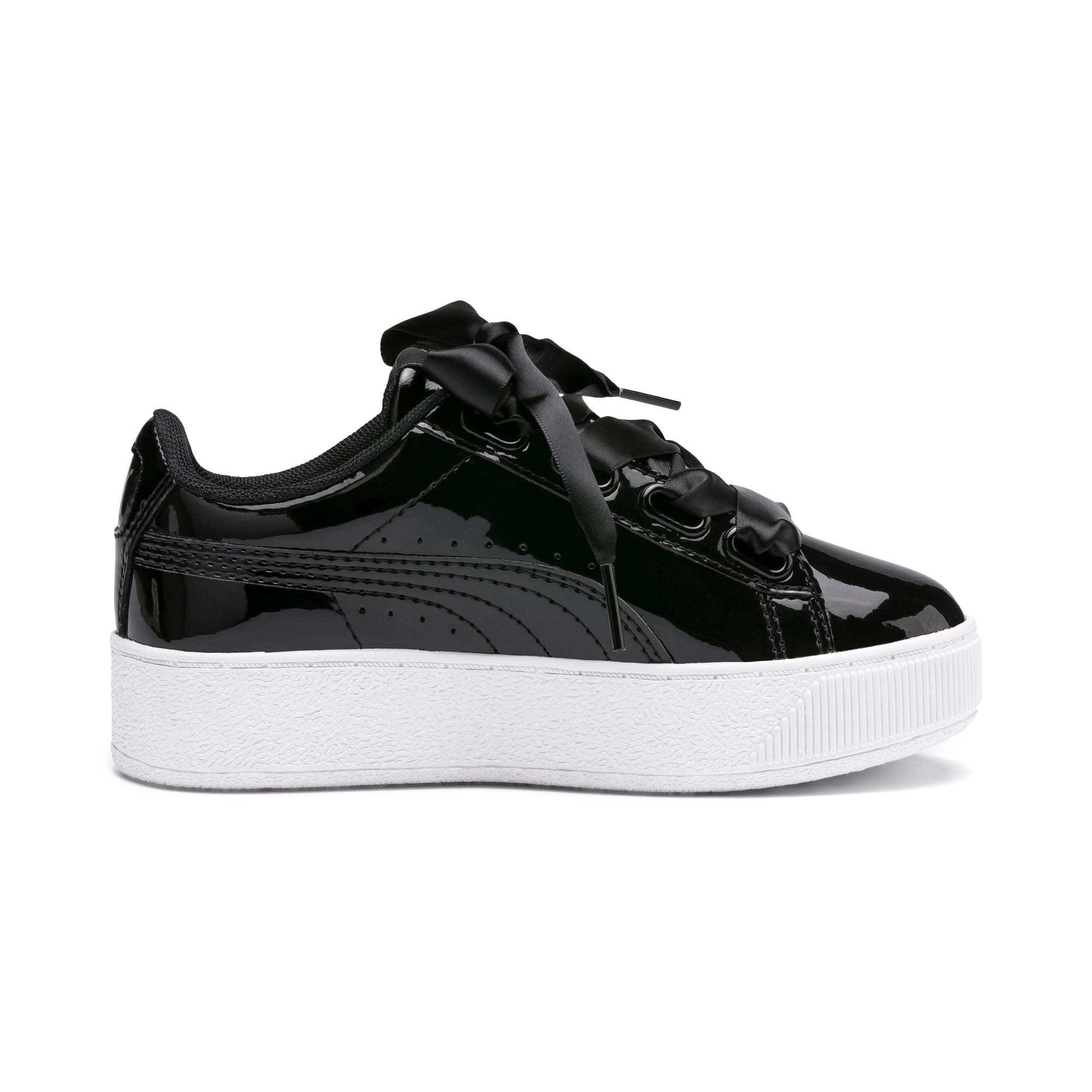 Thumbnail 5 of Vikky Platform Ribbon Patent Kids' Trainers, Puma Black-Puma Black, medium