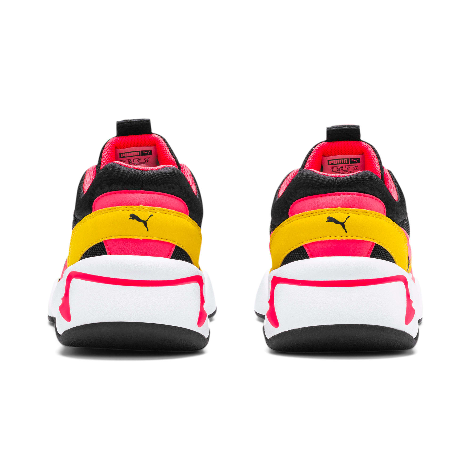 Thumbnail 3 of Nova Funky Youth Trainers, Puma Black-Sulphur, medium