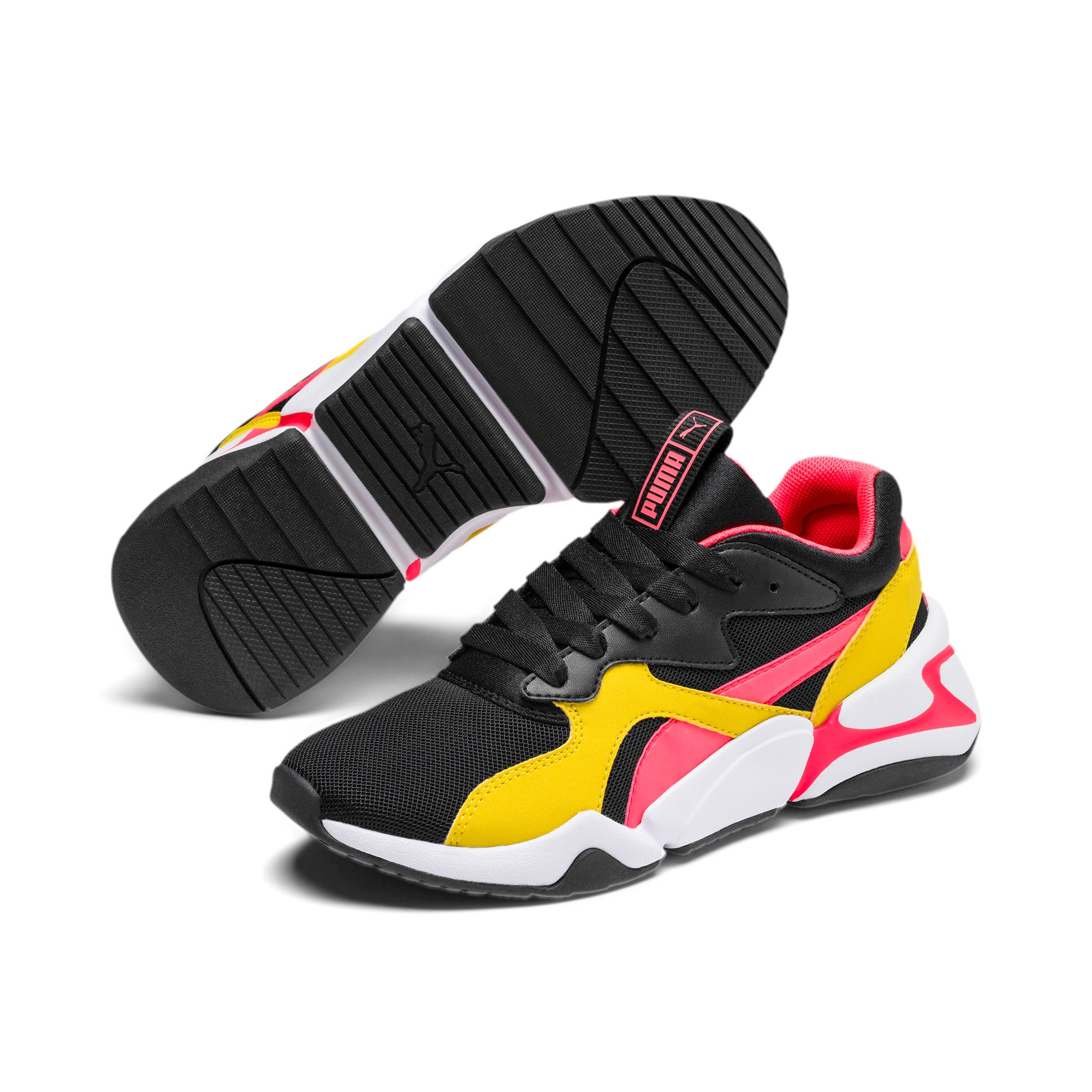 Thumbnail 2 of Nova Funky Youth Trainers, Puma Black-Sulphur, medium