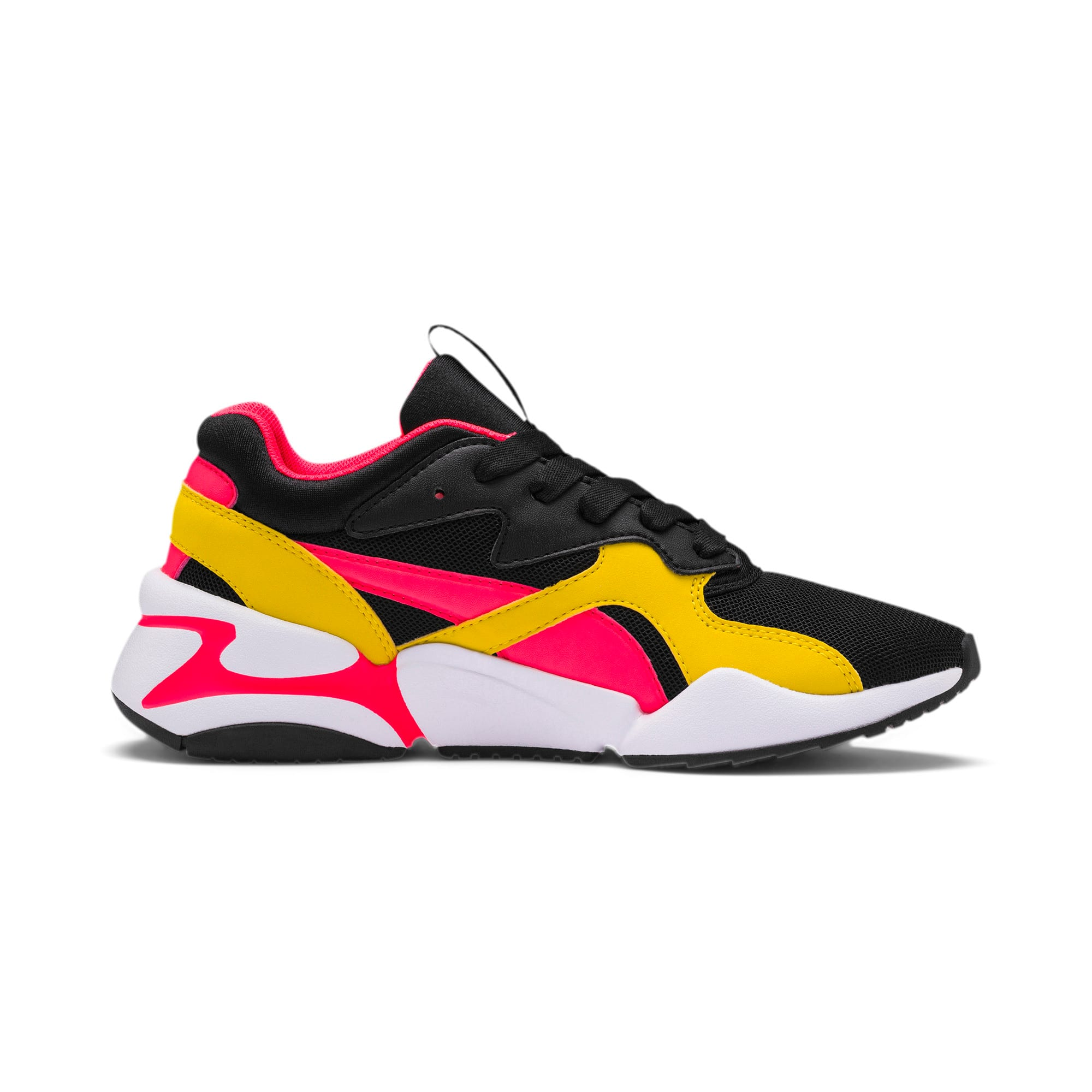 Thumbnail 5 of Nova Funky Youth Trainers, Puma Black-Sulphur, medium