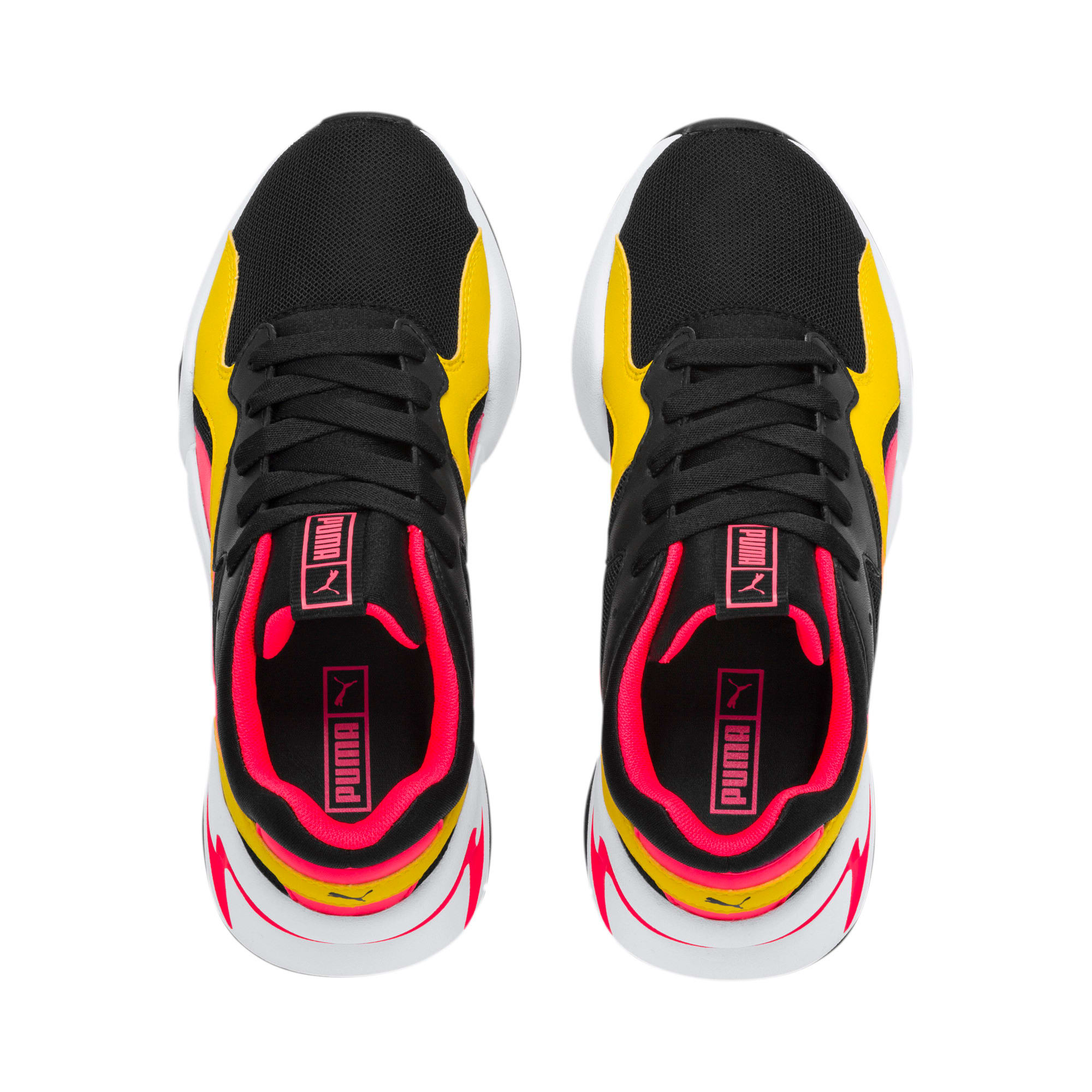 Thumbnail 6 of Nova Funky Youth Trainers, Puma Black-Sulphur, medium