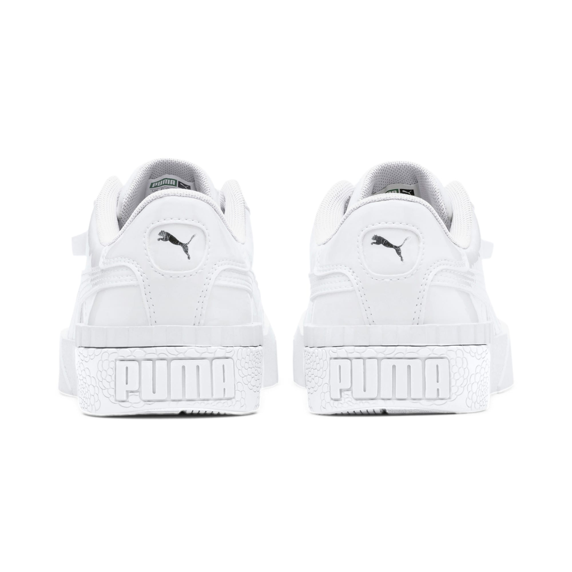 Thumbnail 3 of Cali Patent Sneakers JR, Puma White-Puma White, medium