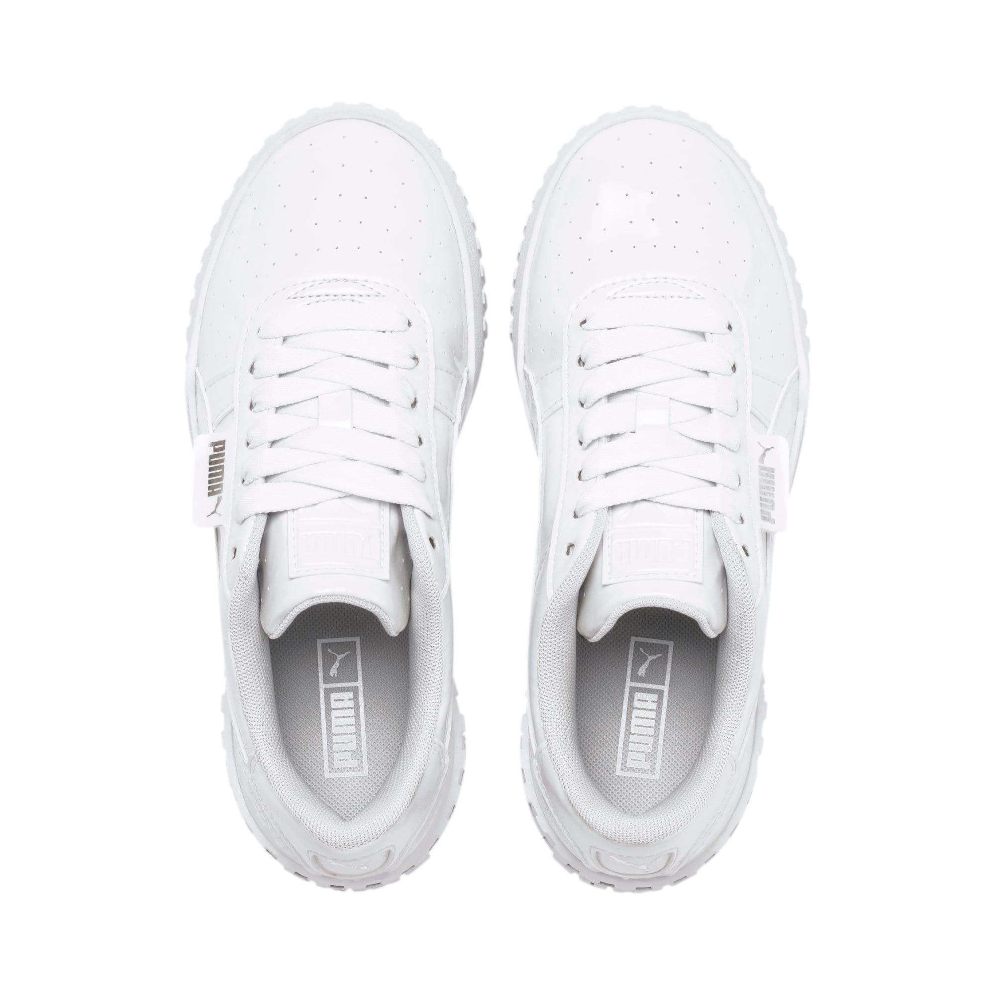 Thumbnail 6 of Cali Patent Sneakers JR, Puma White-Puma White, medium