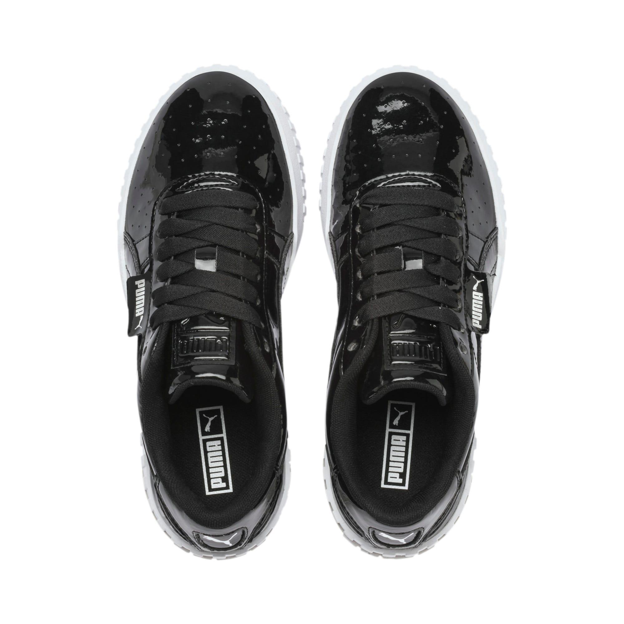 Thumbnail 6 of Cali Patent Sneakers JR, Puma Black-Puma White, medium