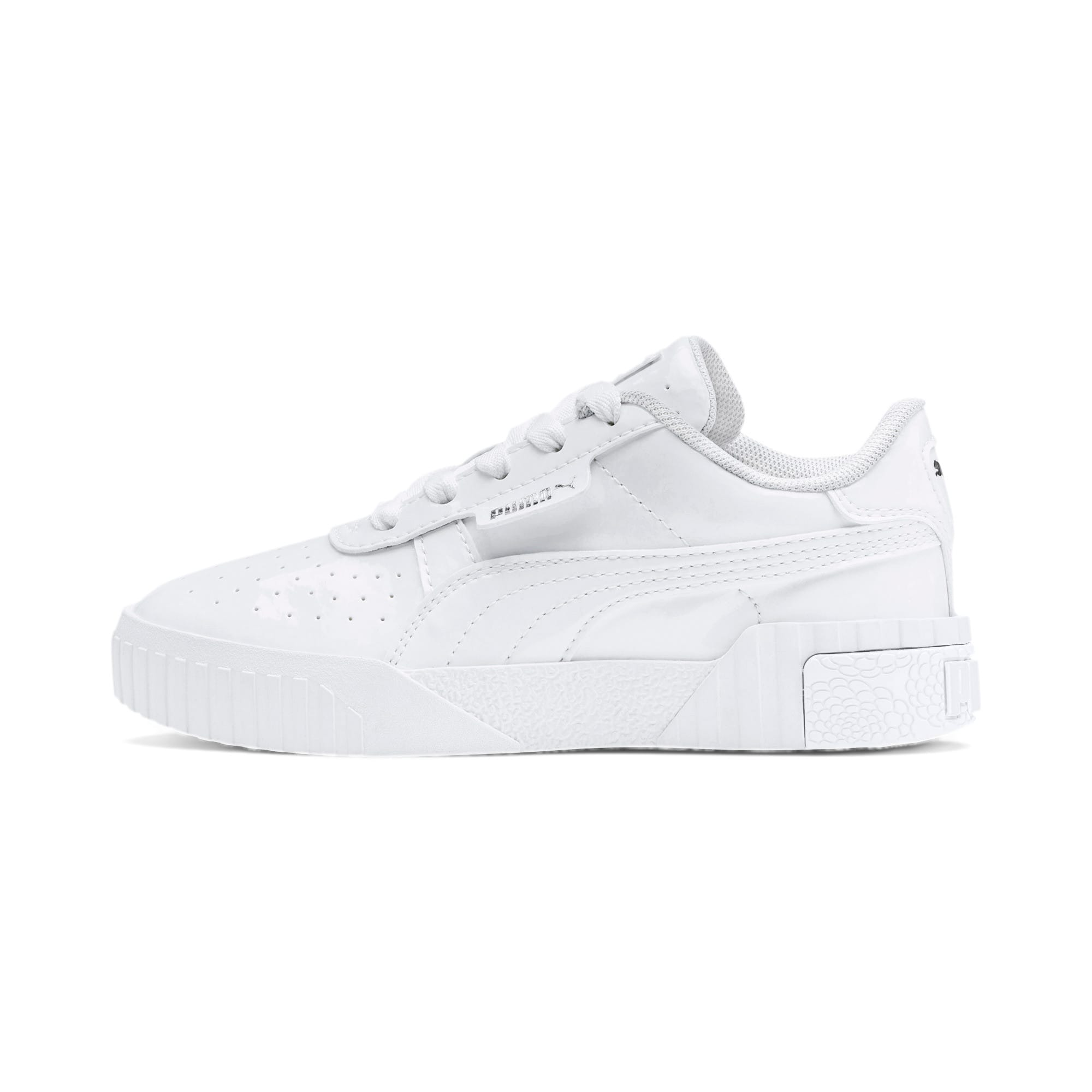 Thumbnail 1 of Cali Patent Kids' Trainers, Puma White-Puma White, medium