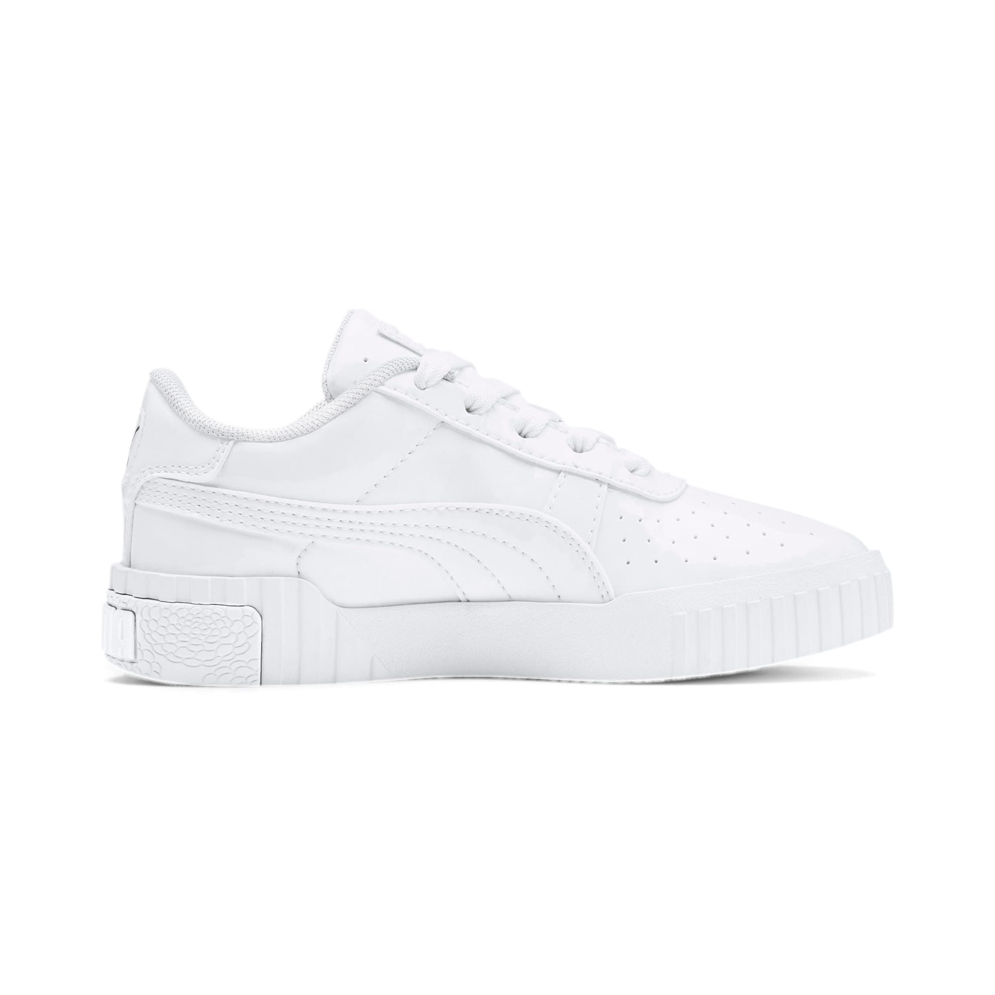Thumbnail 5 of Cali Patent Kids' Trainers, Puma White-Puma White, medium