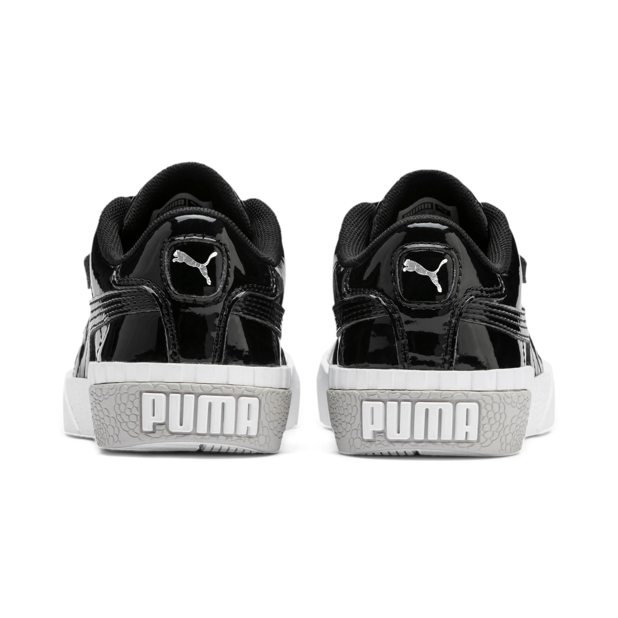 Thumbnail 3 of Cali Patent Kids' Trainers, Puma Black-Puma White, medium