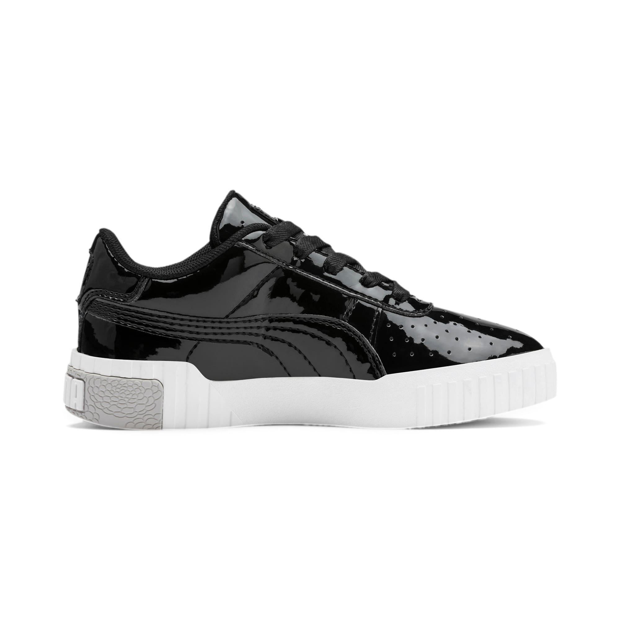 Thumbnail 5 of Cali Patent Kids' Trainers, Puma Black-Puma White, medium