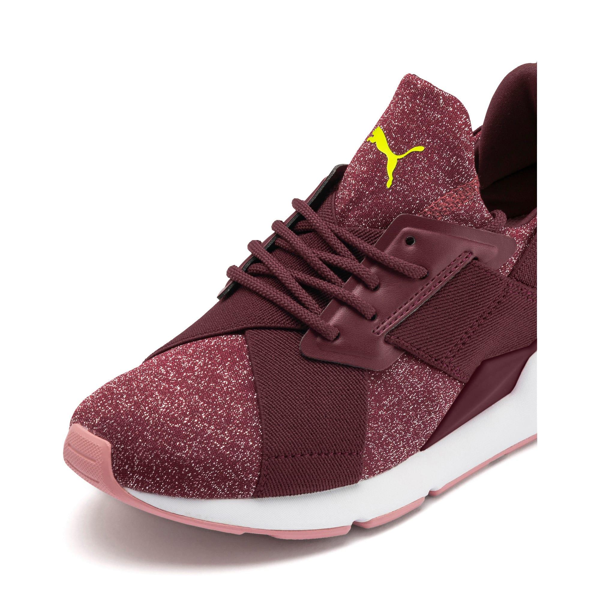 Thumbnail 7 of Muse Shift Sneakers JR, Vineyard Wine-Yellow Alert, medium