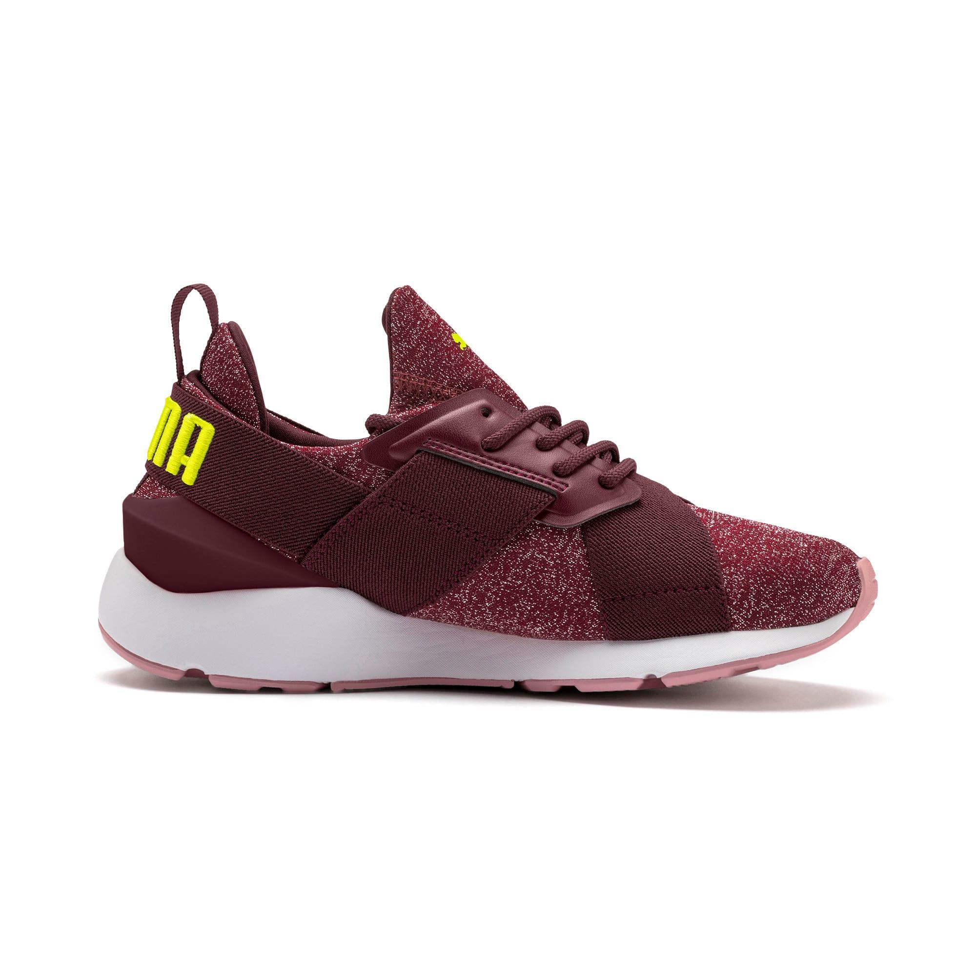 Thumbnail 5 of Muse Shift Sneakers JR, Vineyard Wine-Yellow Alert, medium