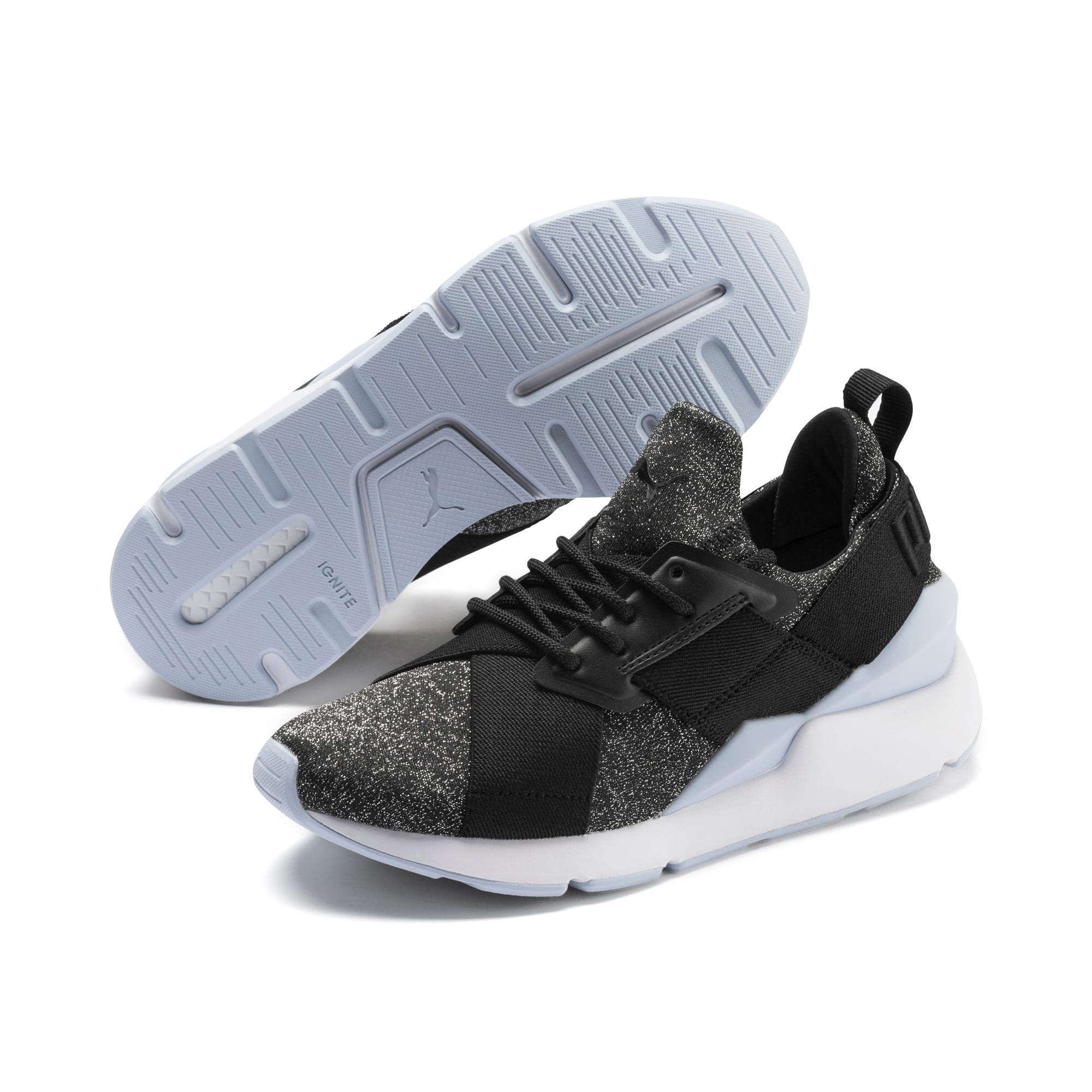 Thumbnail 2 of Muse Shift Sneakers JR, Puma Black-Heather, medium