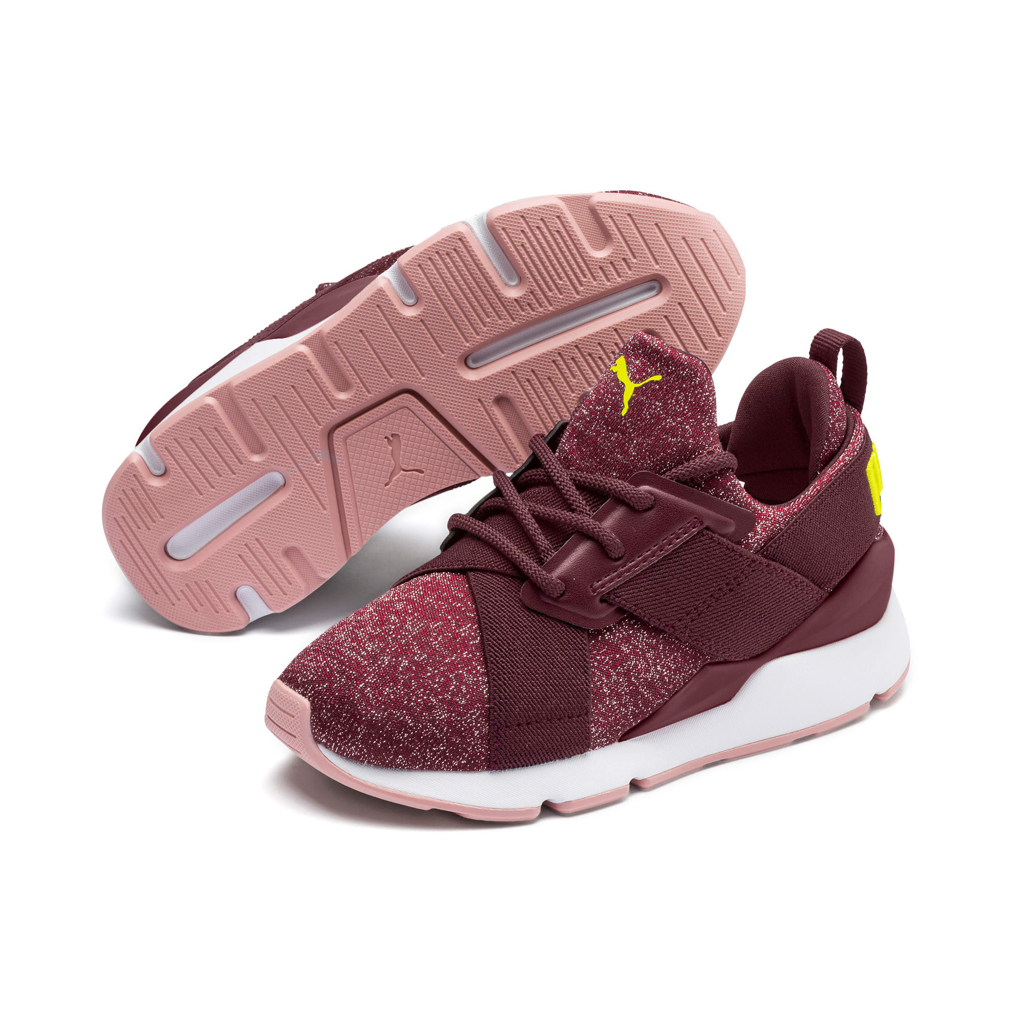 Miniatura 2 de Zapatos Muse Shift para niños pequeños, Vineyard Wine-Yellow Alert, mediano