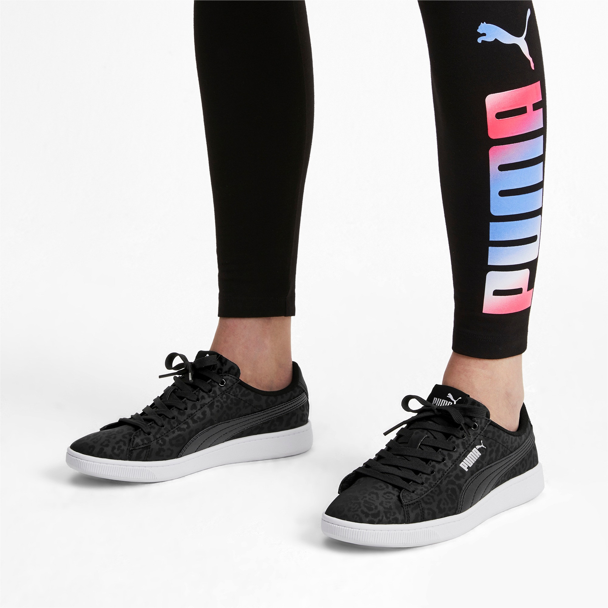 Thumbnail 2 of PUMA Vikky v2 Wildcat Women's Sneakers, Puma Black-Puma Silver-White, medium