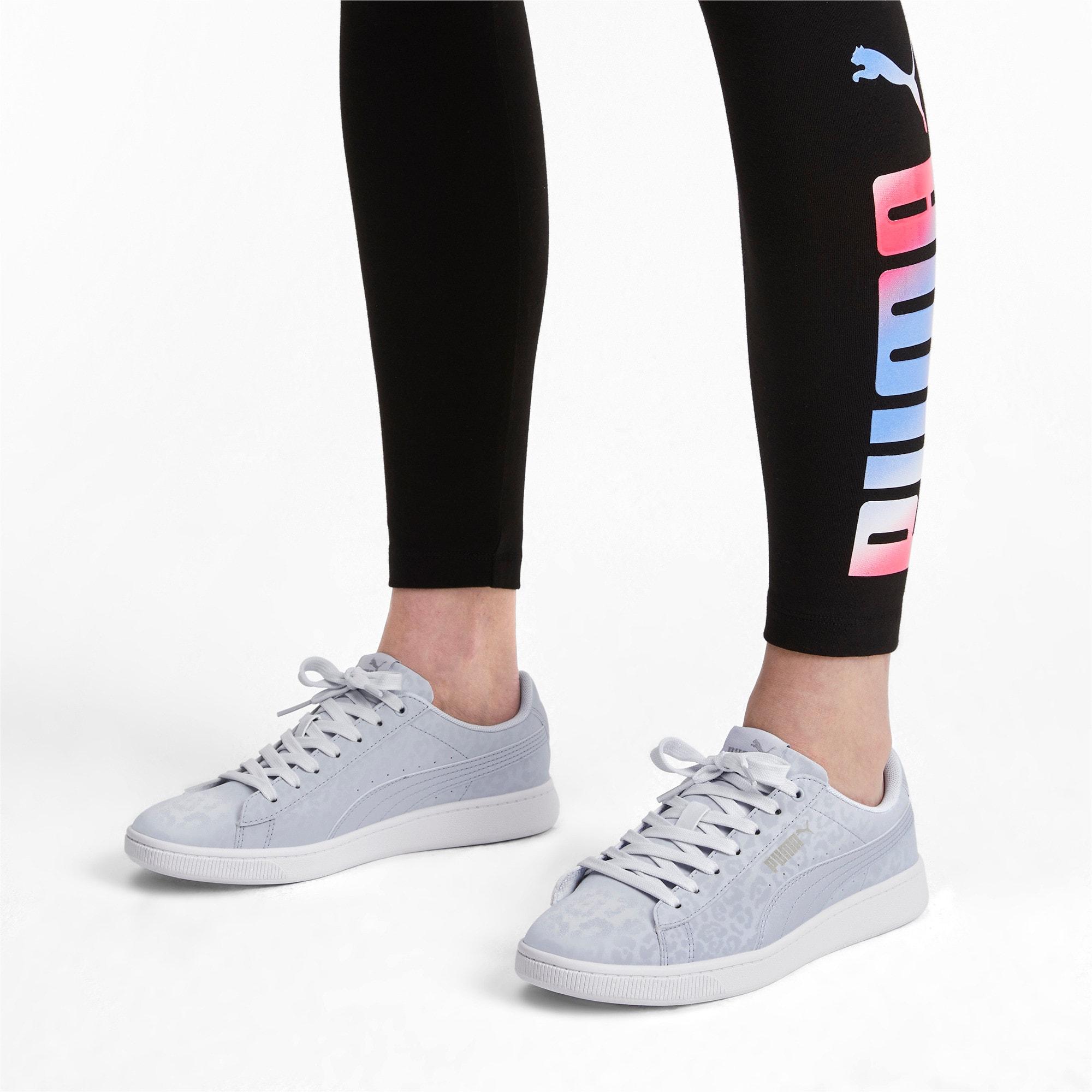 Thumbnail 3 of PUMA Vikky v2 Wildcat Women's Sneakers, Heather-Puma Silver-White, medium