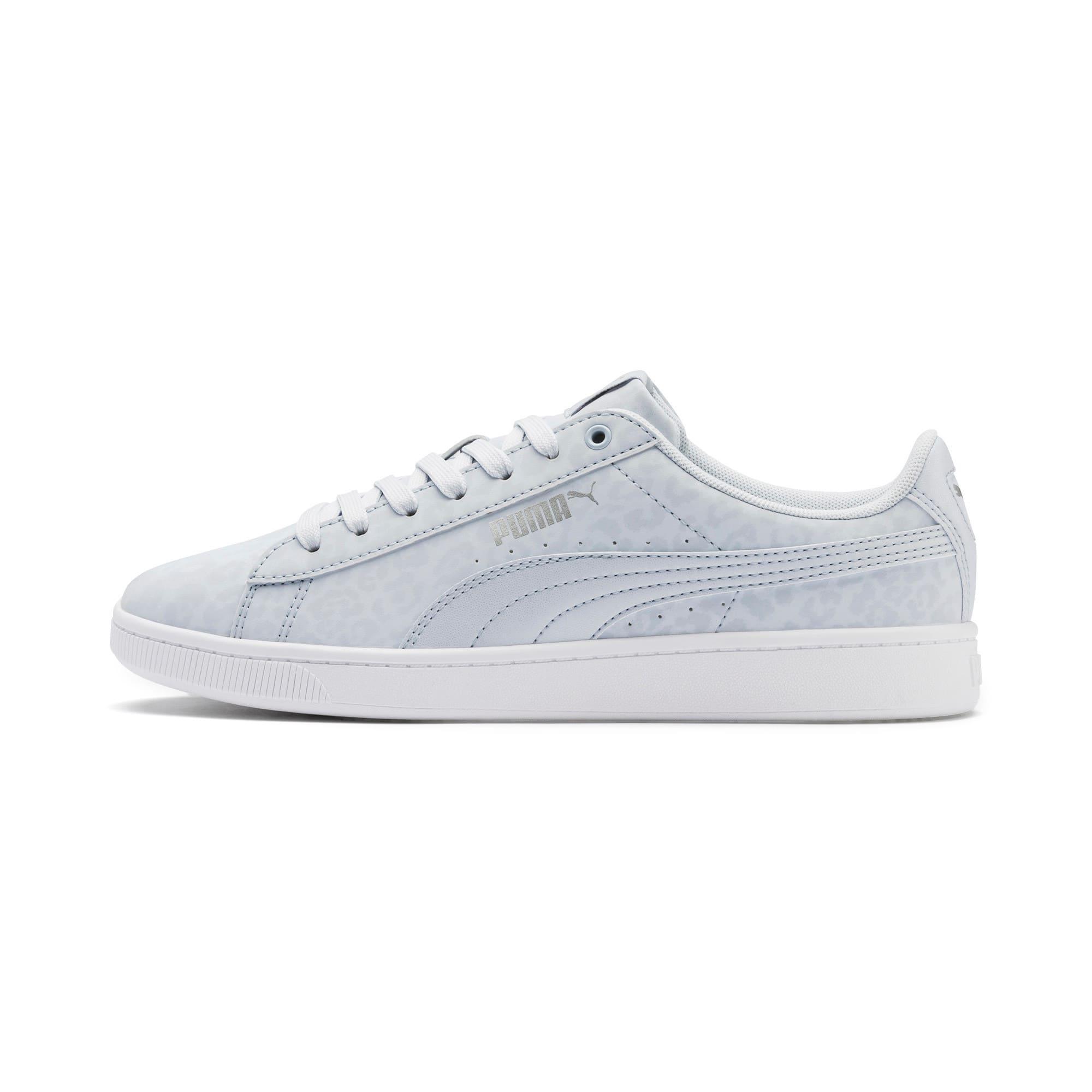 Thumbnail 1 of PUMA Vikky v2 Wildcat Women's Sneakers, Heather-Puma Silver-White, medium