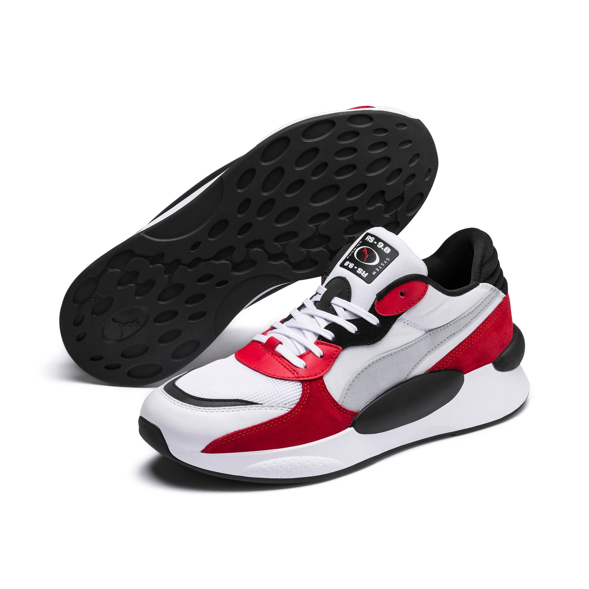 Thumbnail 4 of RS 9.8 Space Trainers, Puma White-High Risk Red, medium-IND