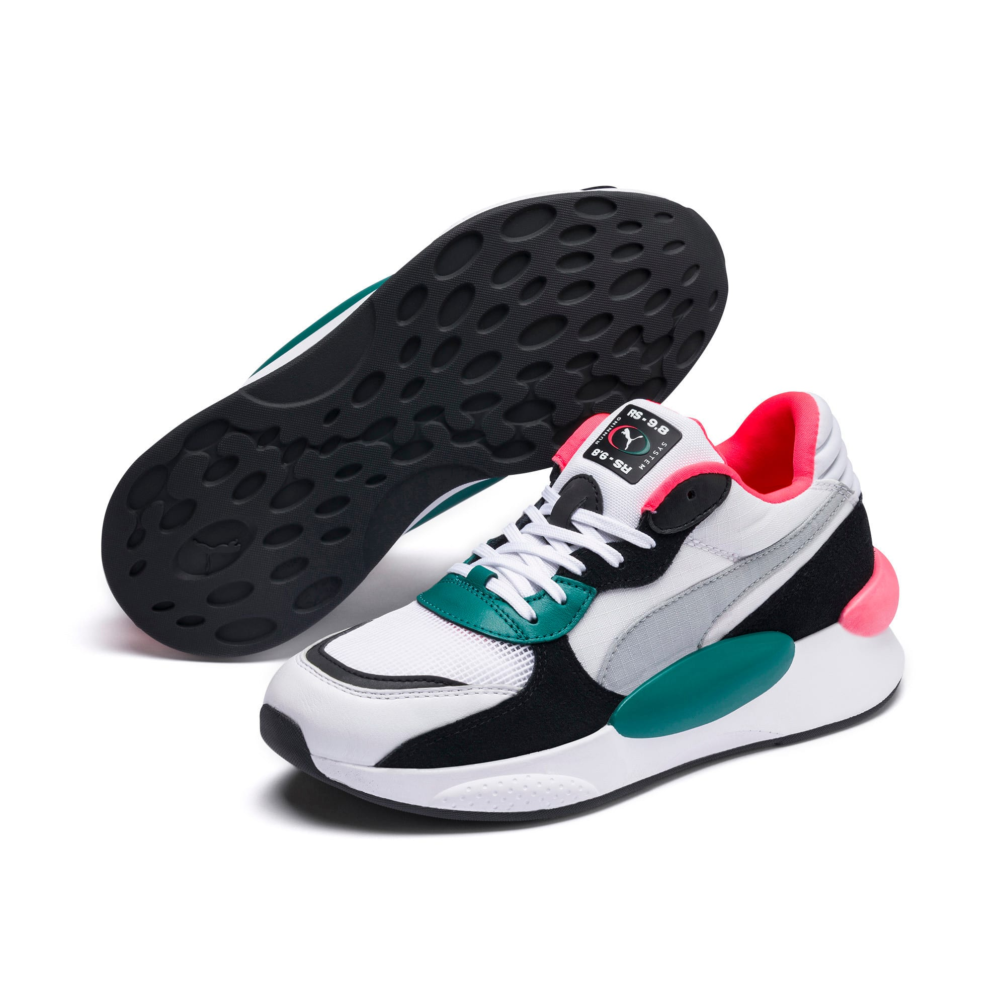 Thumbnail 2 van RS 9.8 Space sportschoenen, Puma White-blauwgroen, medium