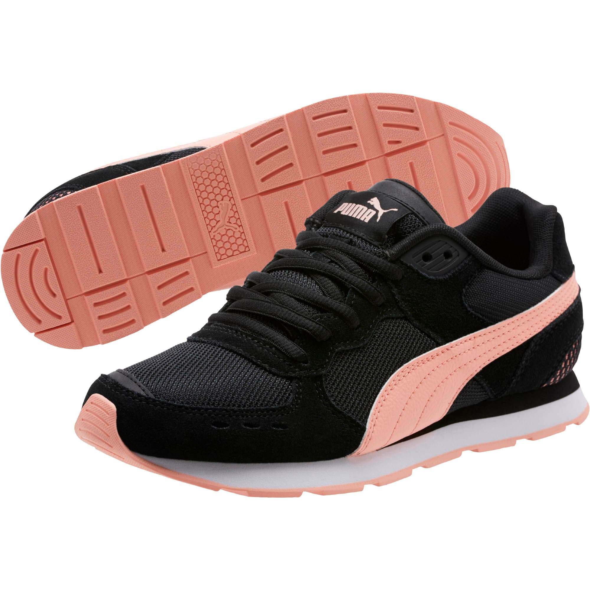 Thumbnail 2 of Vista Women's Sneakers, Puma Black-Peach Bud, medium