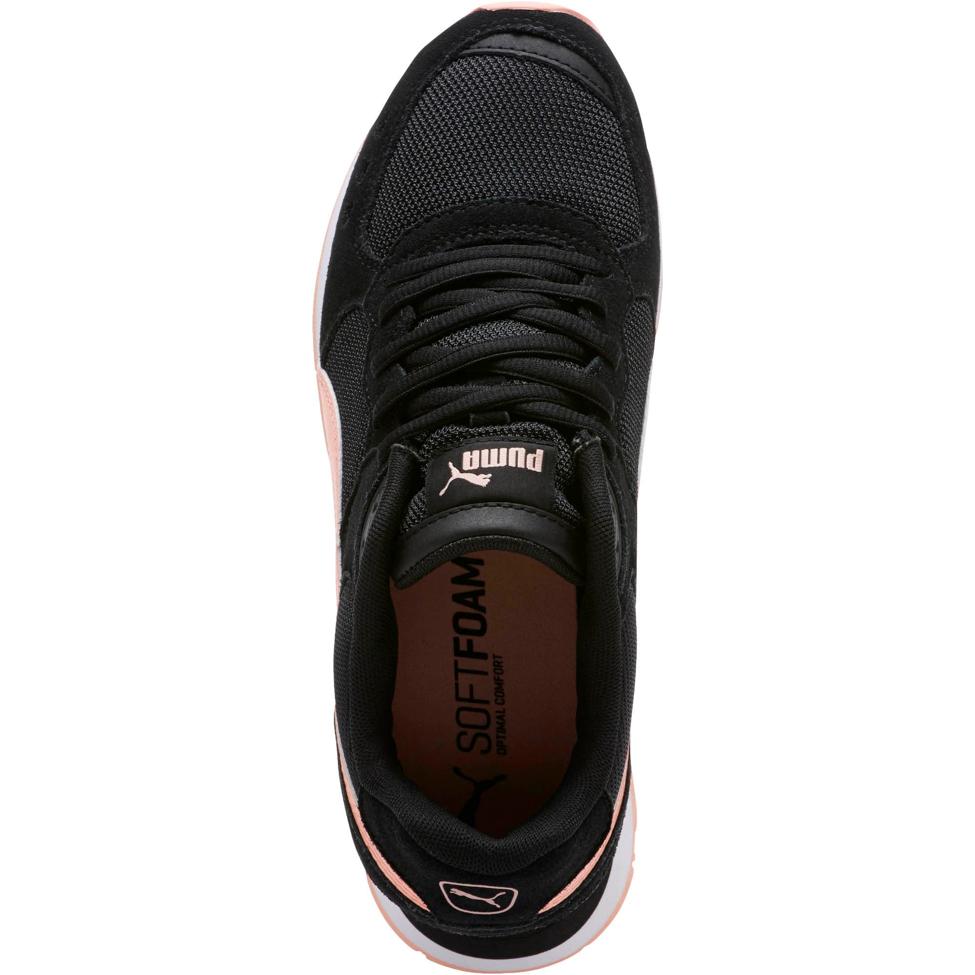 Thumbnail 5 of Vista Women's Sneakers, Puma Black-Peach Bud, medium