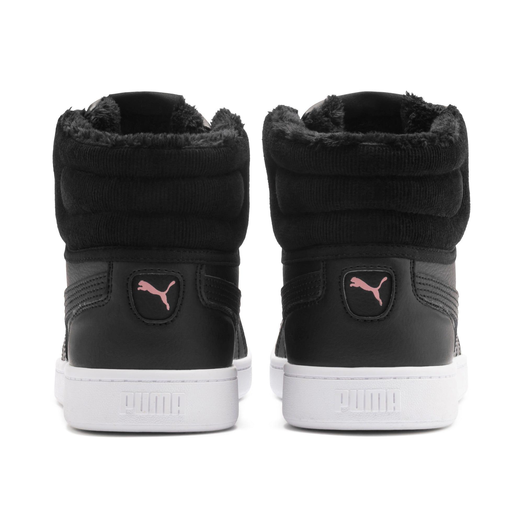 Thumbnail 4 of PUMA Vikky v2 Mid Winter Women's Sneakers, Puma Black-Bridal Rose-White, medium
