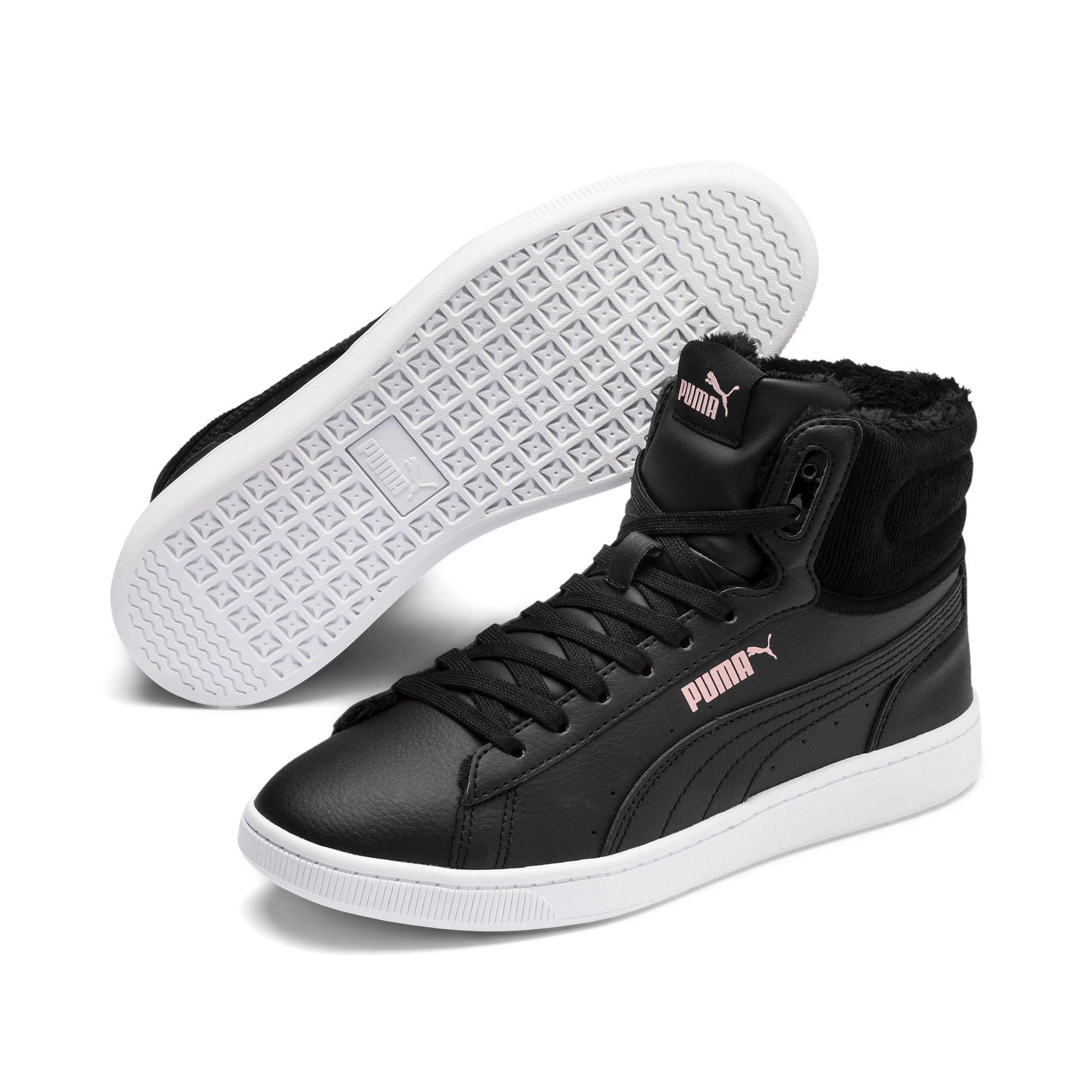 Thumbnail 3 of PUMA Vikky v2 Mid Winter Women's Sneakers, Puma Black-Bridal Rose-White, medium
