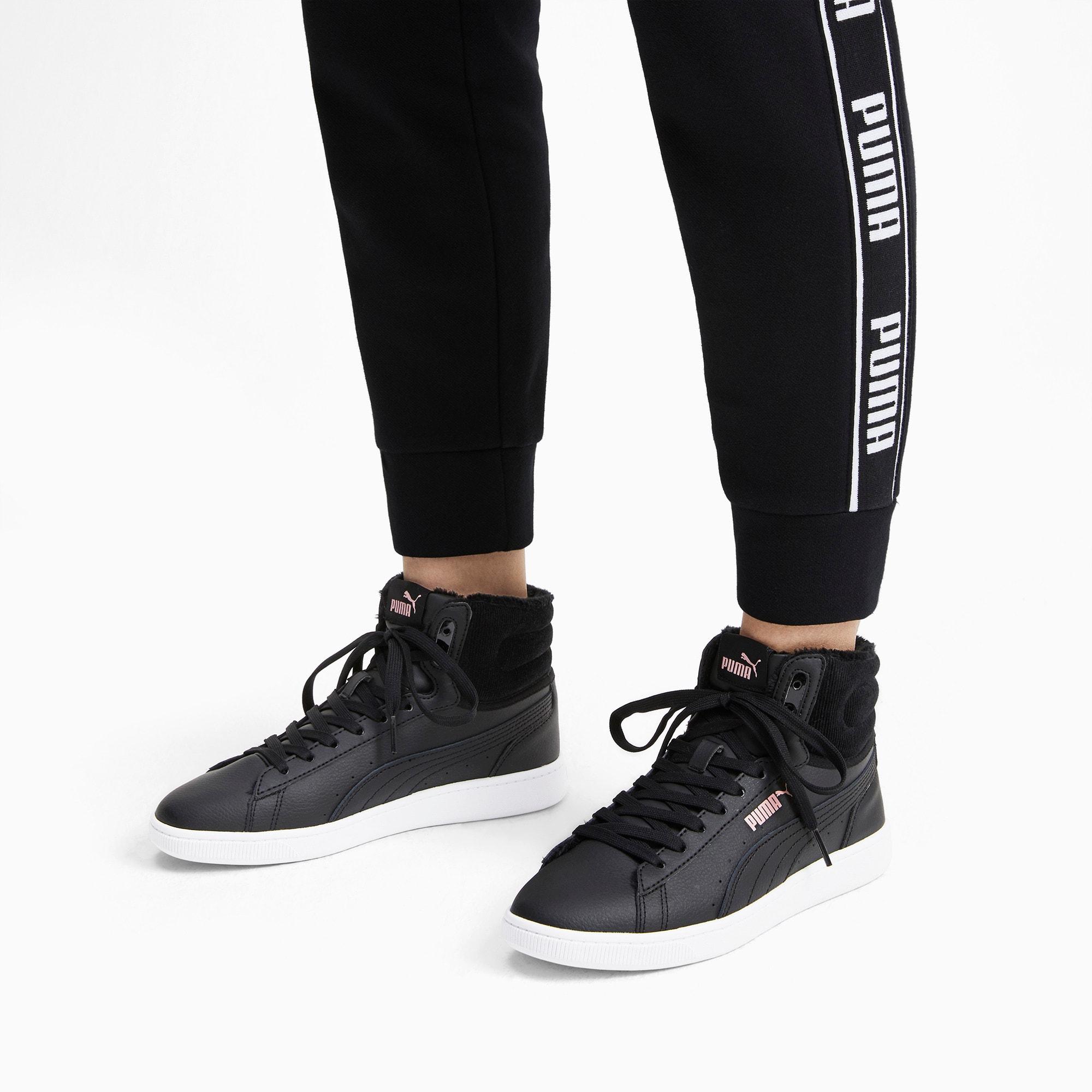 Thumbnail 2 of PUMA Vikky v2 Mid Winter Women's Sneakers, Puma Black-Bridal Rose-White, medium