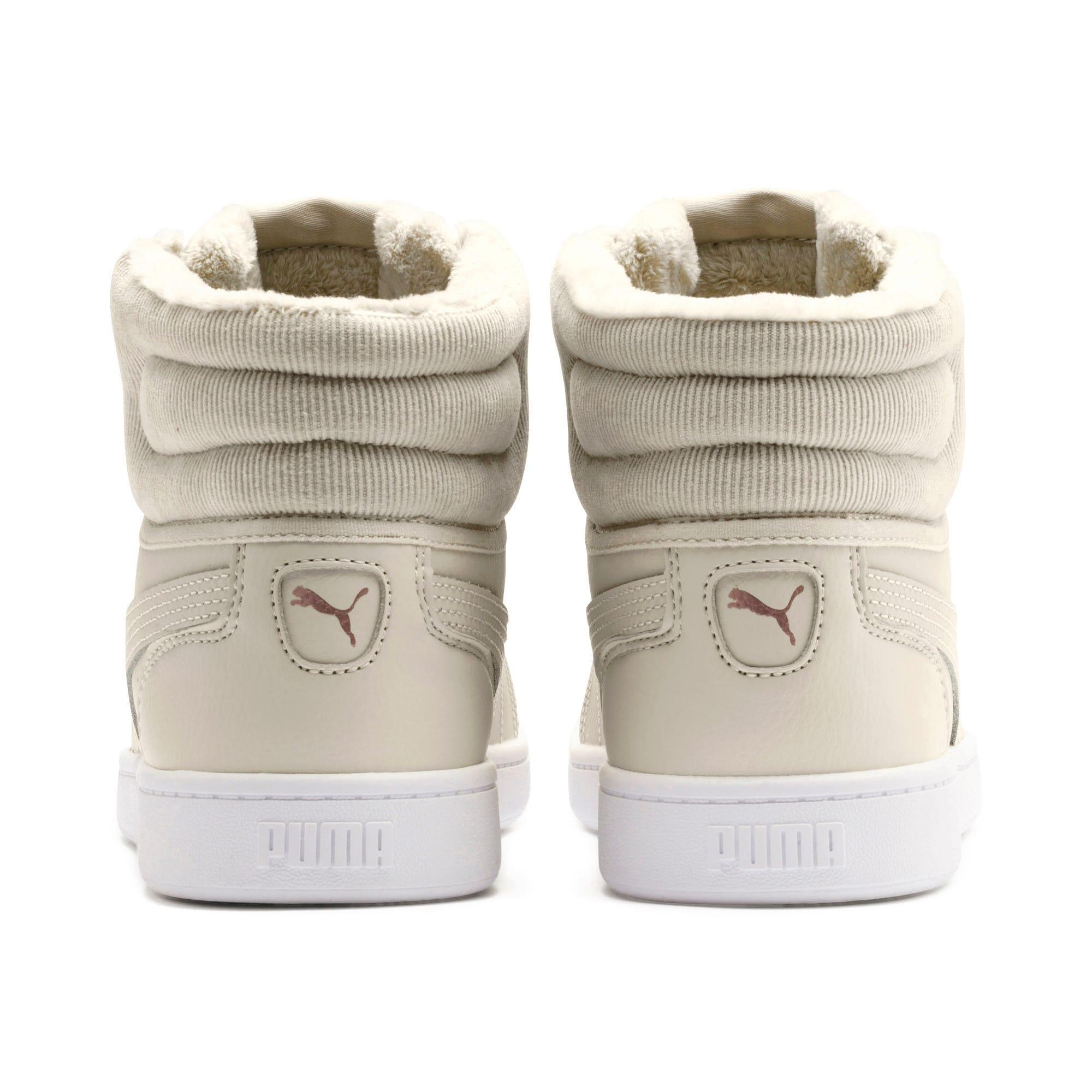 Thumbnail 4 of PUMA Vikky v2 Mid Winter Women's Sneakers, Overcast-Rose Gold-White, medium