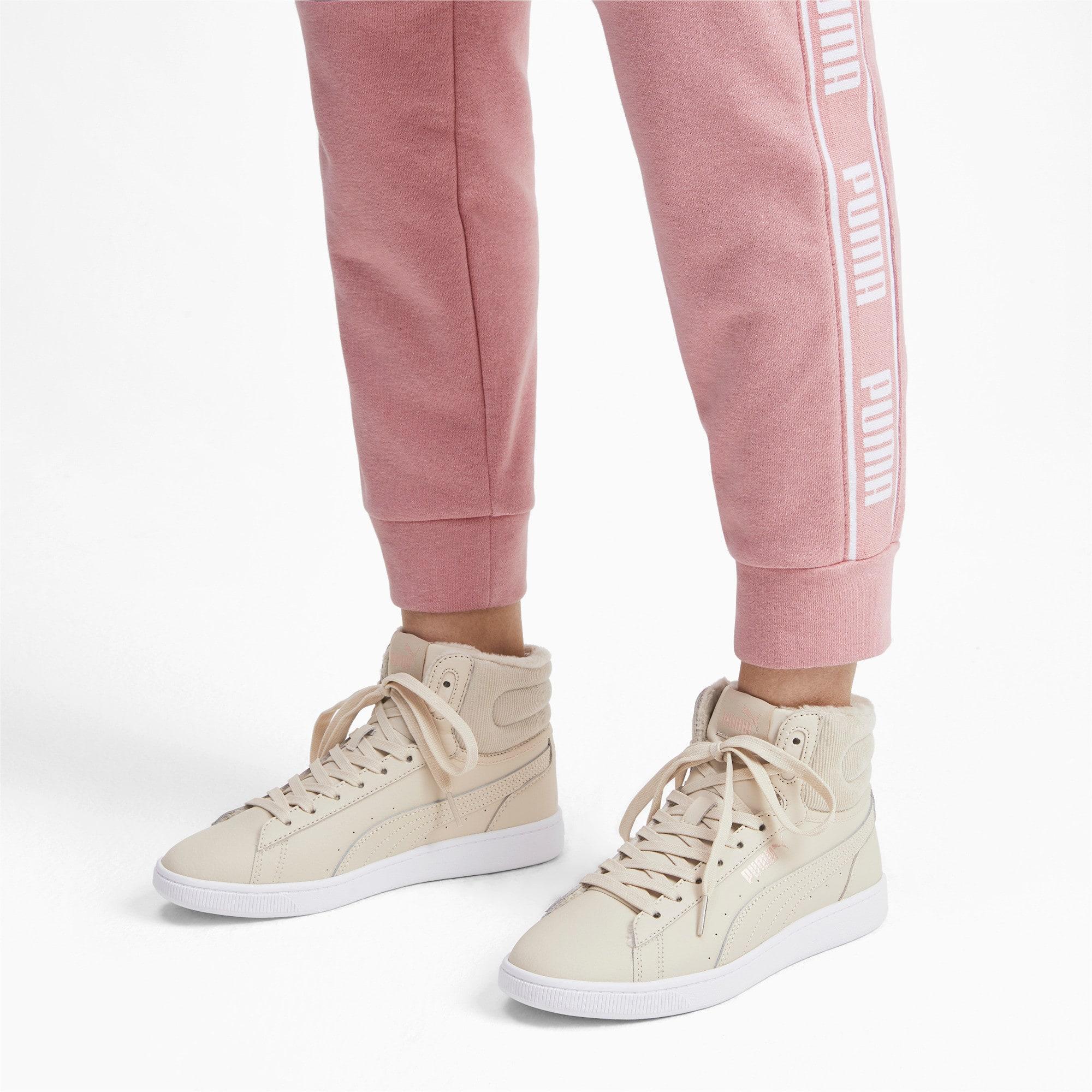 Thumbnail 2 of PUMA Vikky v2 Mid Winter Women's Sneakers, Overcast-Rose Gold-White, medium