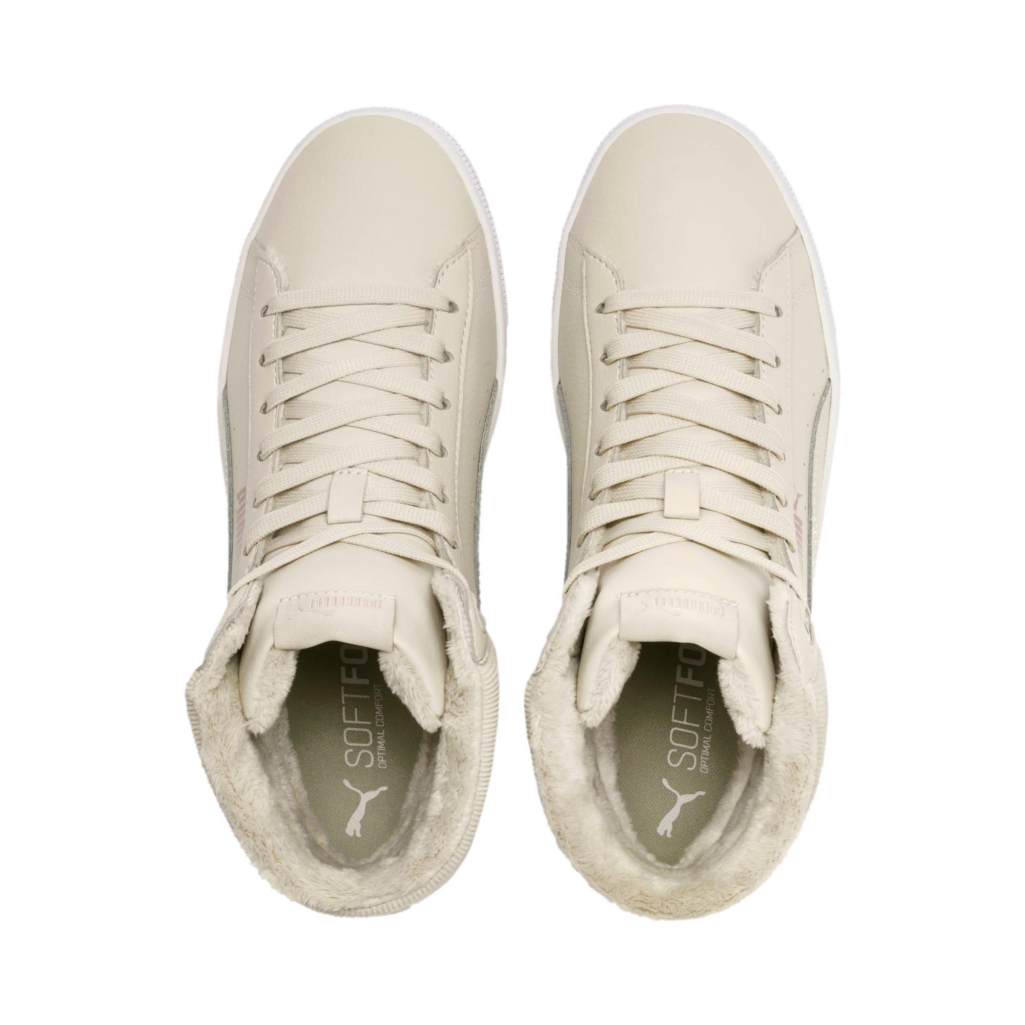 Thumbnail 7 of PUMA Vikky v2 Mid Winter Women's Sneakers, Overcast-Rose Gold-White, medium