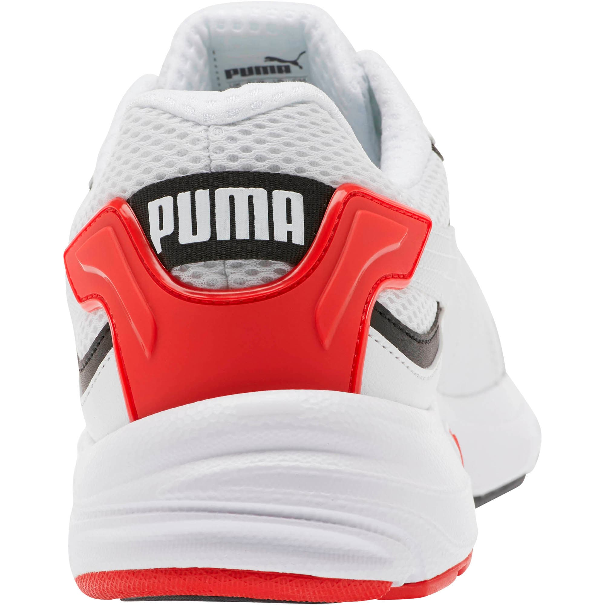 Thumbnail 3 of Axis Plus 90s Sneakers, Puma White-Puma Black-Red, medium
