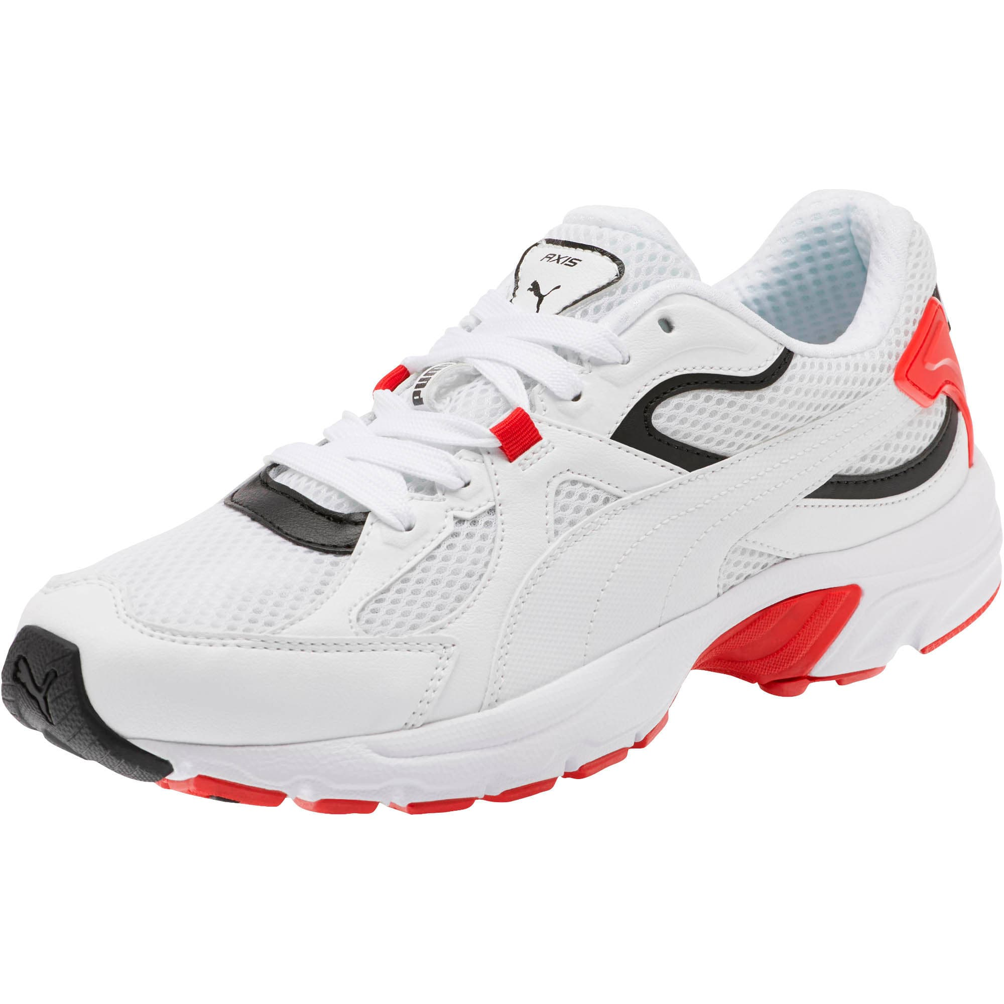Thumbnail 1 of Axis Plus 90s Sneakers, Puma White-Puma Black-Red, medium