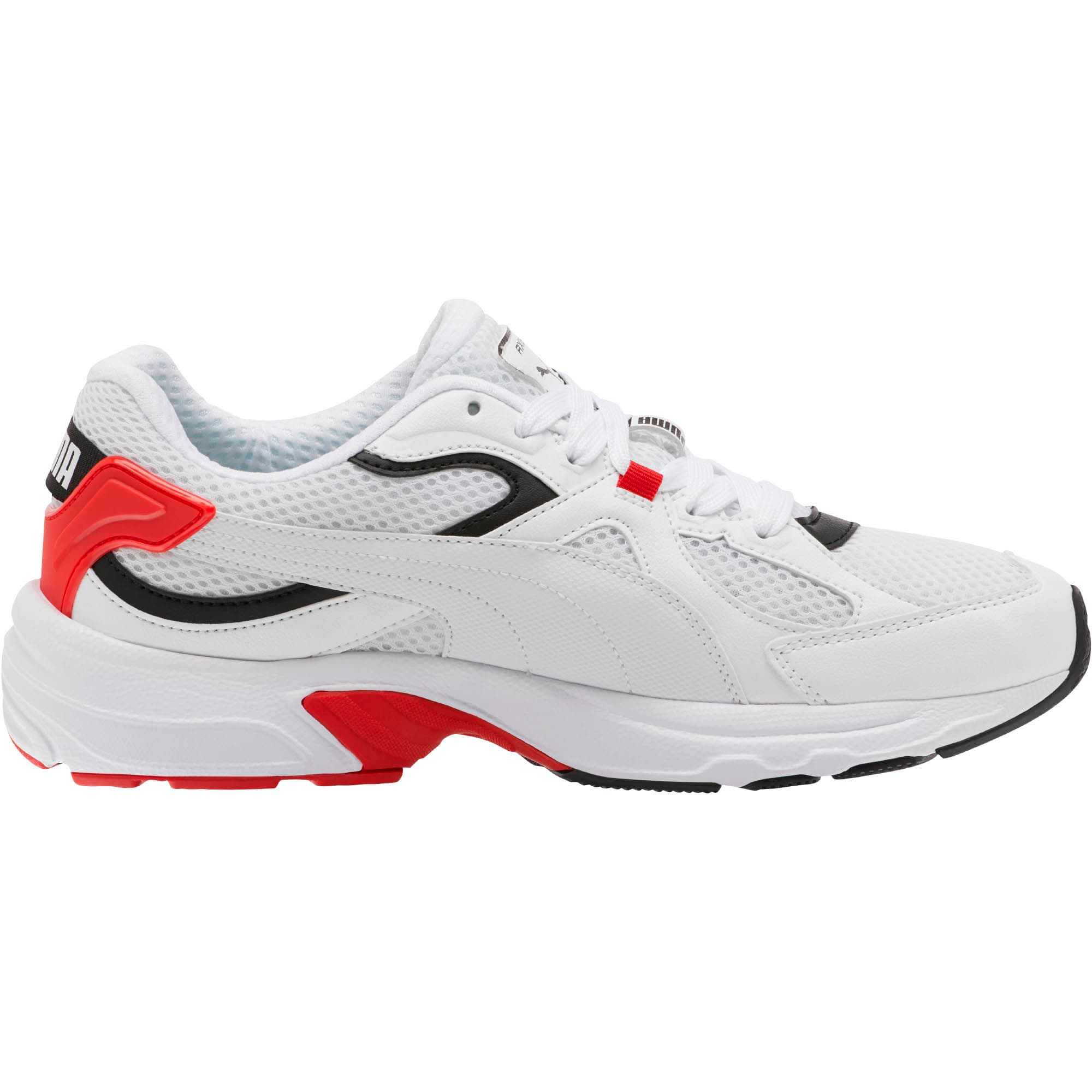 Thumbnail 4 of Axis Plus 90s Sneakers, Puma White-Puma Black-Red, medium