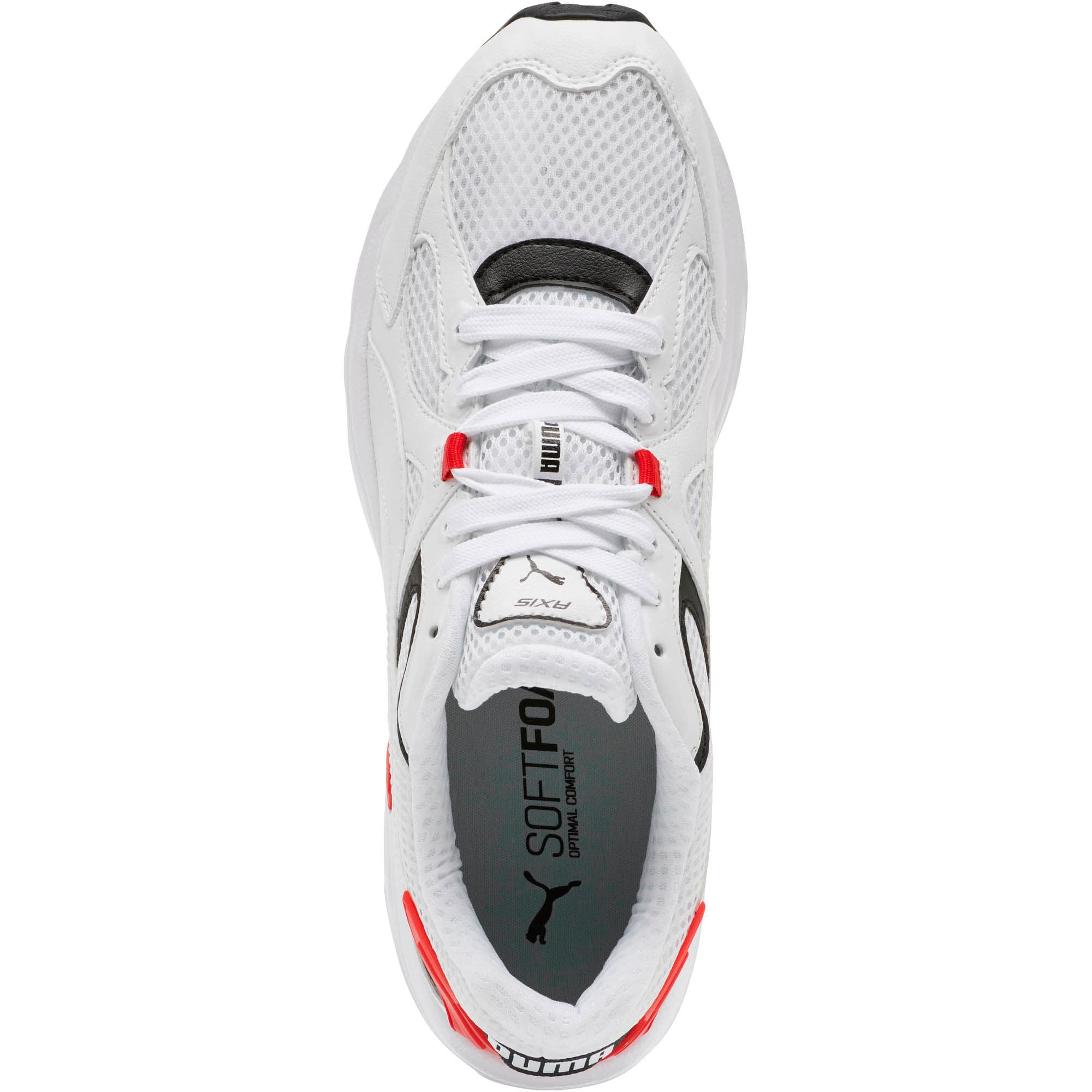 Thumbnail 5 of Axis Plus 90s Sneakers, Puma White-Puma Black-Red, medium