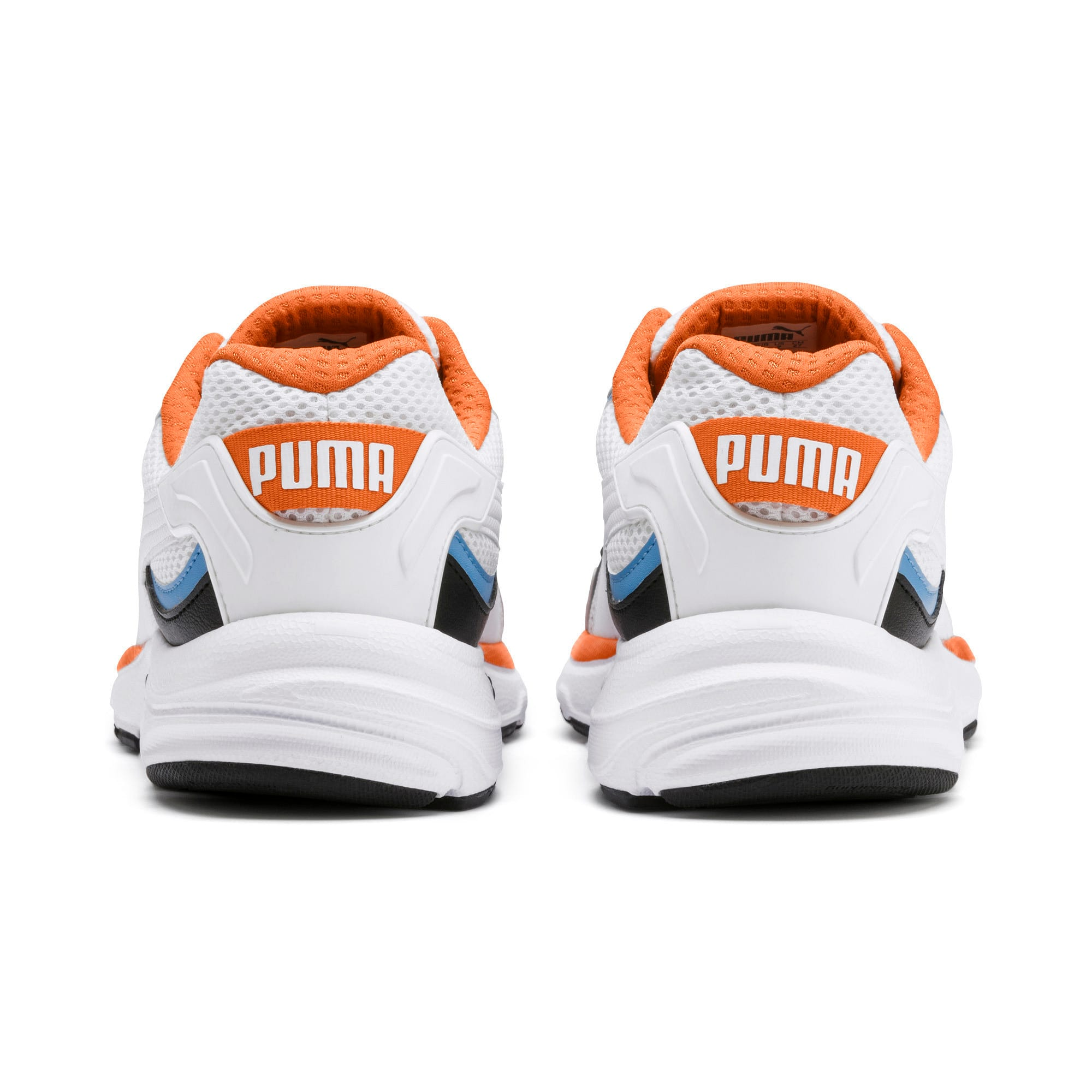 Thumbnail 4 of Axis Plus 90s Sneakers, White-Blk-T Lt Blue-J Orange, medium