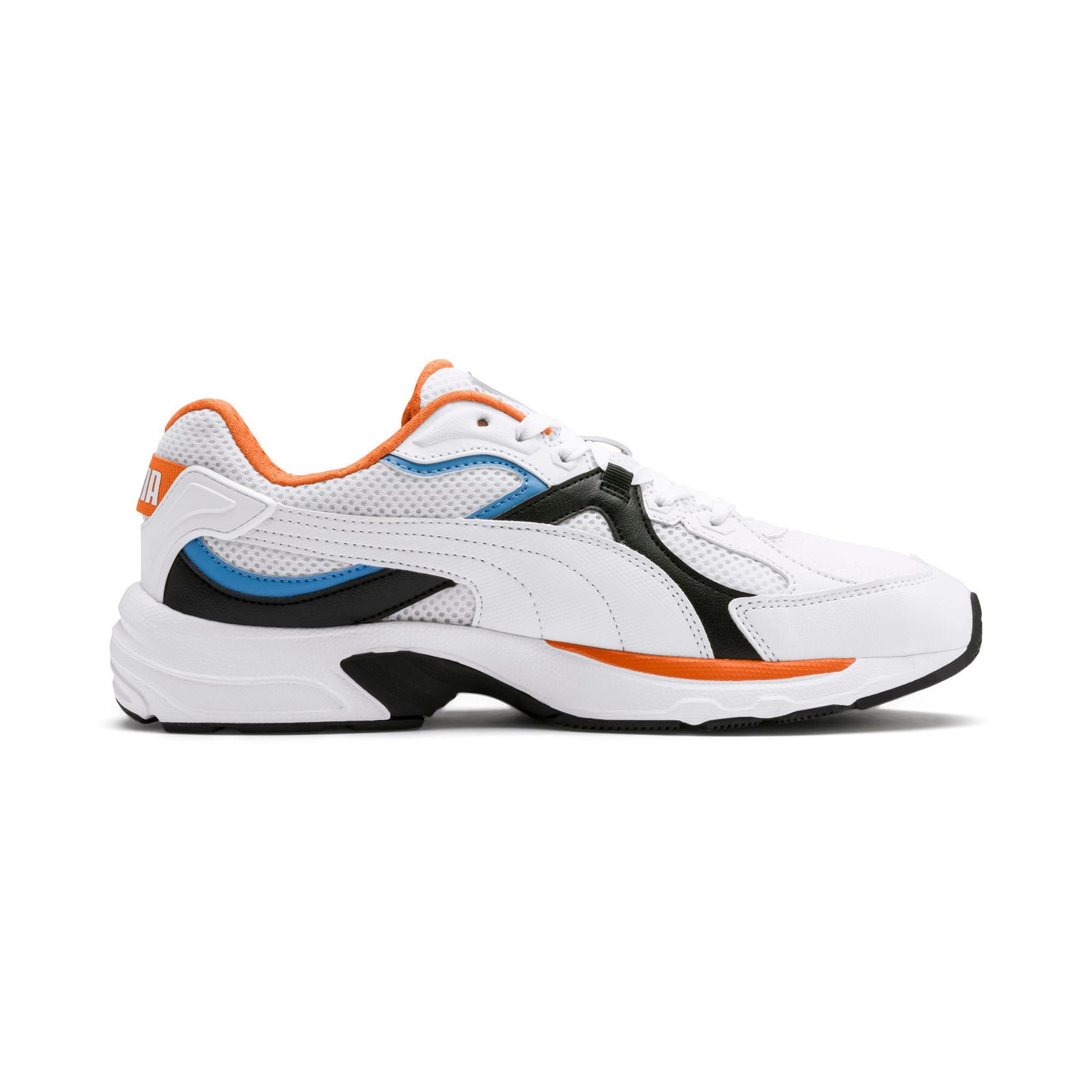 Thumbnail 6 of Axis Plus 90s Sneakers, White-Blk-T Lt Blue-J Orange, medium