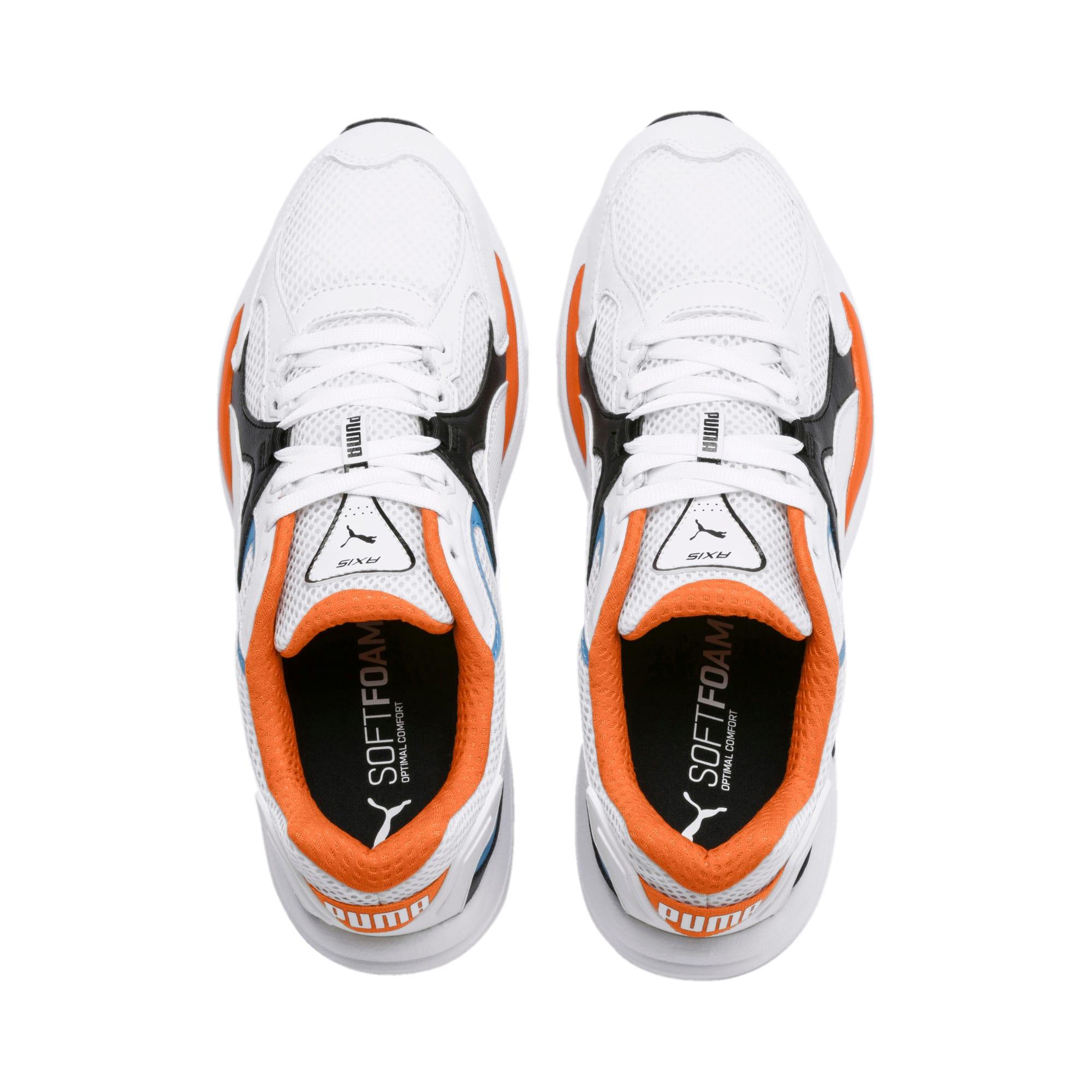 Thumbnail 7 of Axis Plus 90s Sneakers, White-Blk-T Lt Blue-J Orange, medium