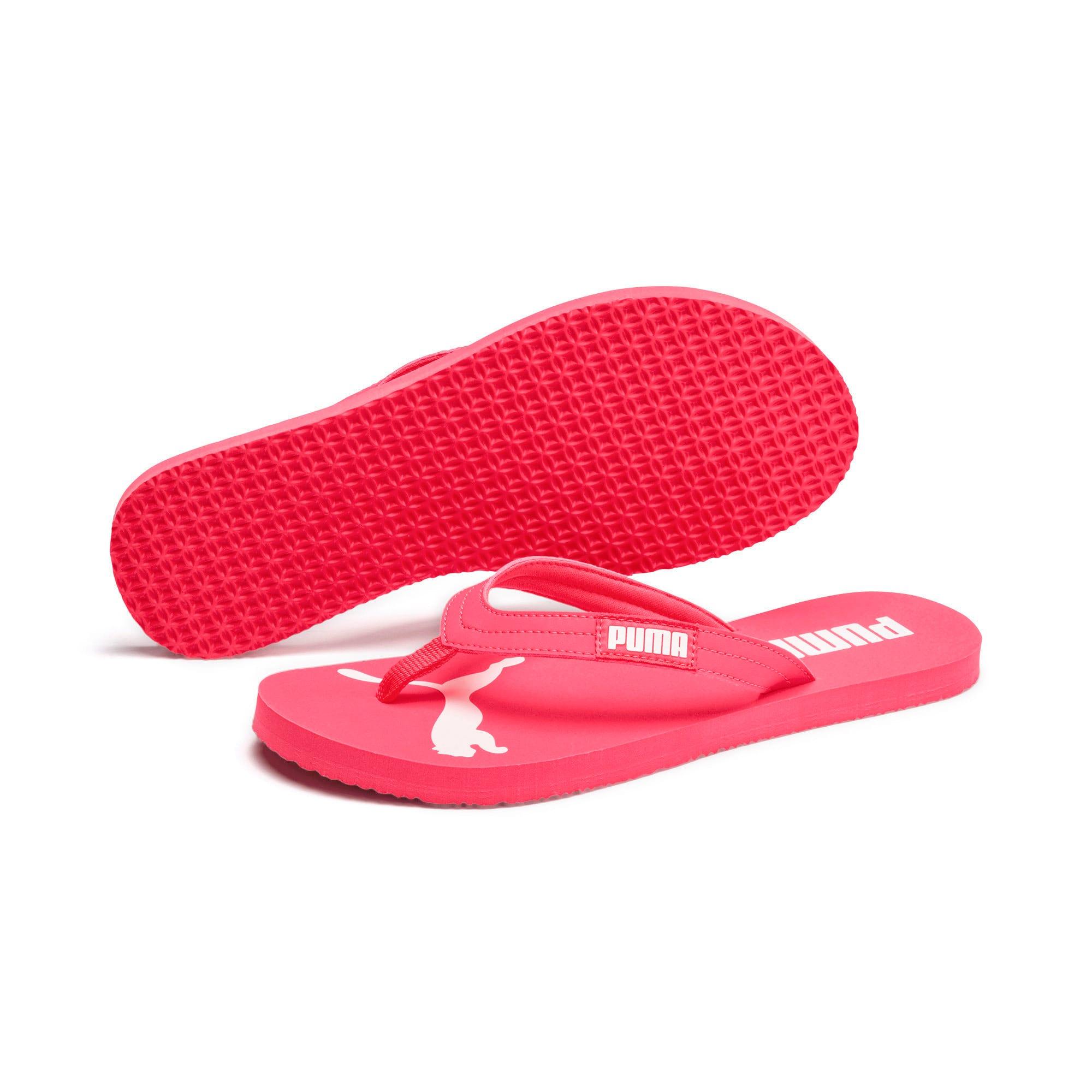 Thumbnail 2 of Cosy Flip Women's Sandals, Pink Alert-Puma White, medium