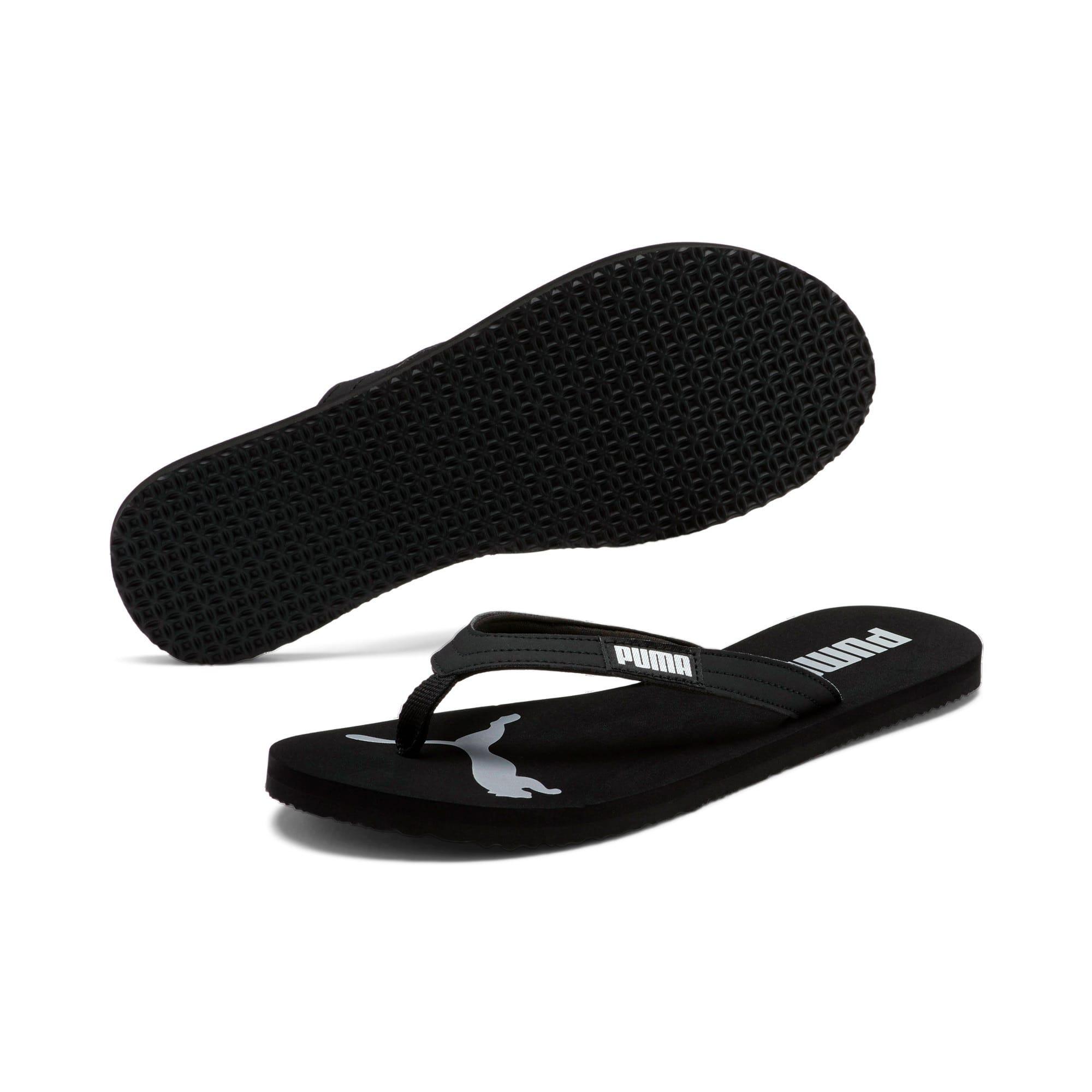 Miniatura 2 de Sandalias PUMA Cozy Flip para mujer, Puma Black-Puma Silver, mediano
