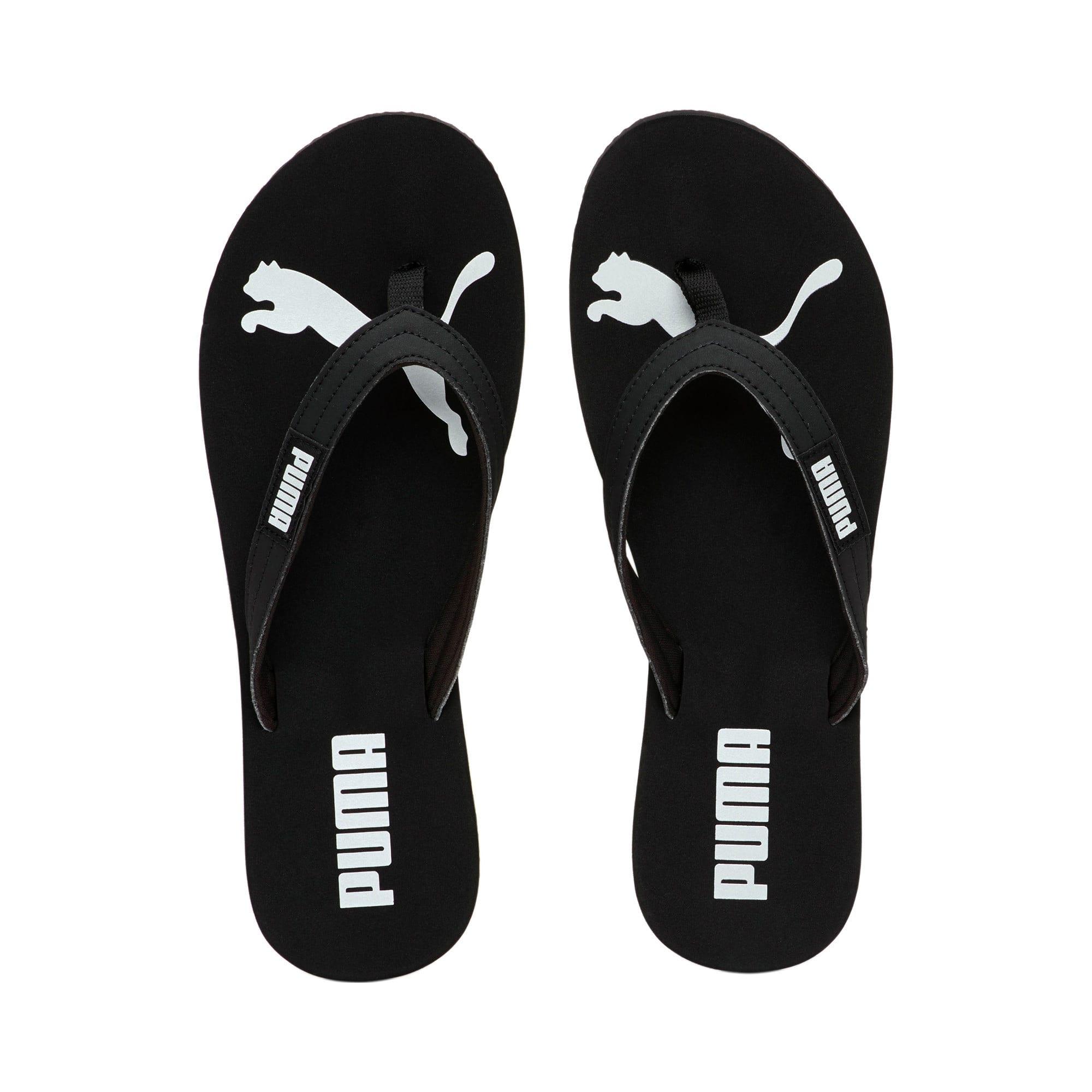 Miniatura 6 de Sandalias PUMA Cozy Flip para mujer, Puma Black-Puma Silver, mediano