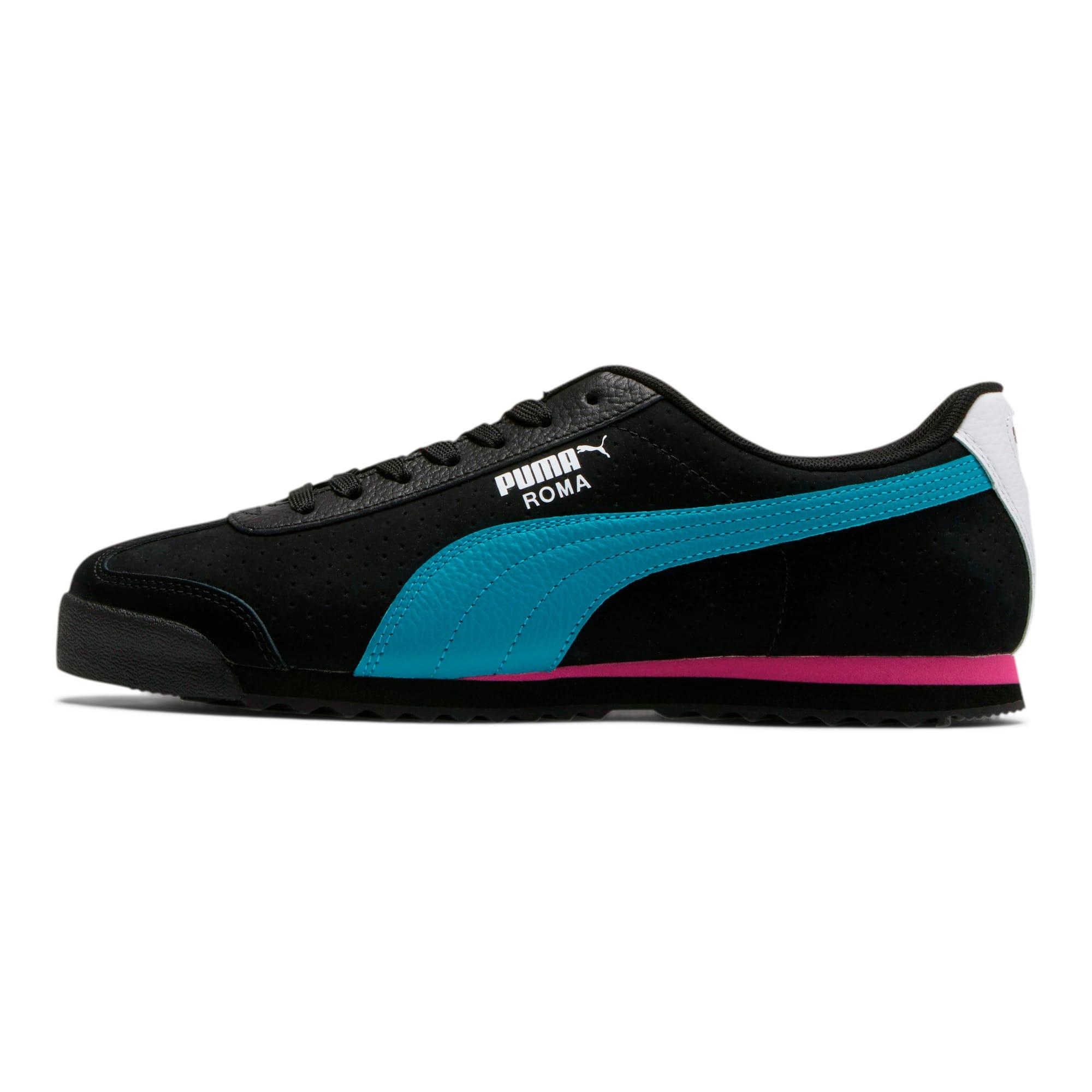Thumbnail 1 of Roma XTG Perf Men's Sneakers, P Black-P White-Carib Sea, medium