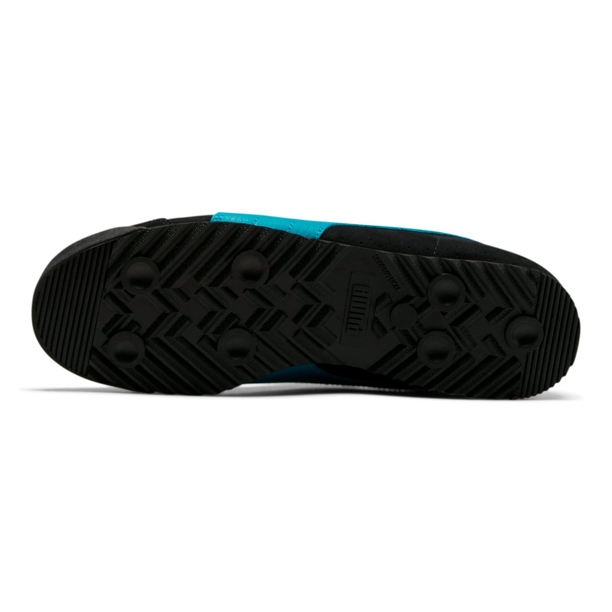 Thumbnail 4 of Roma XTG Perf Men's Sneakers, P Black-P White-Carib Sea, medium