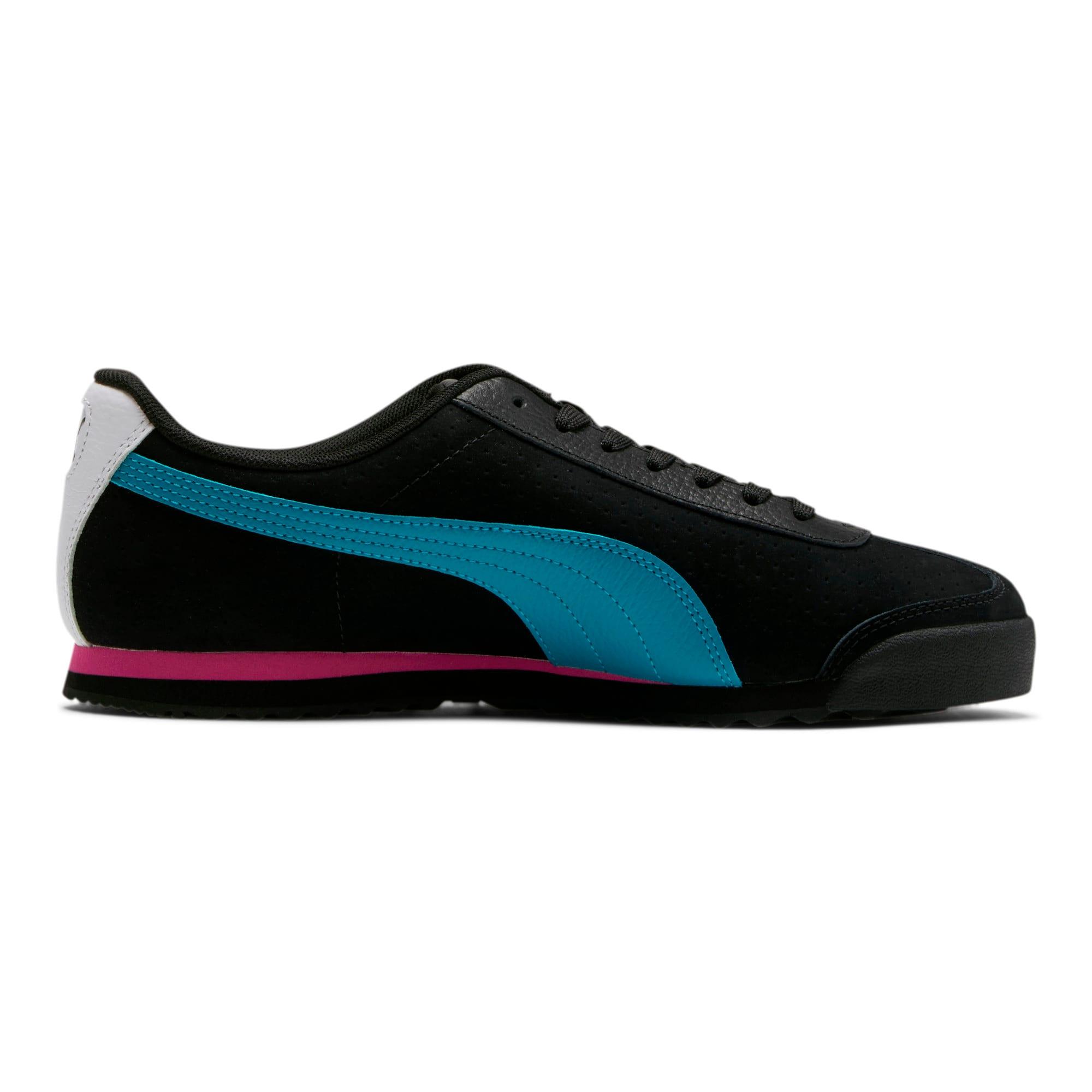 Thumbnail 5 of Roma XTG Perf Men's Sneakers, P Black-P White-Carib Sea, medium