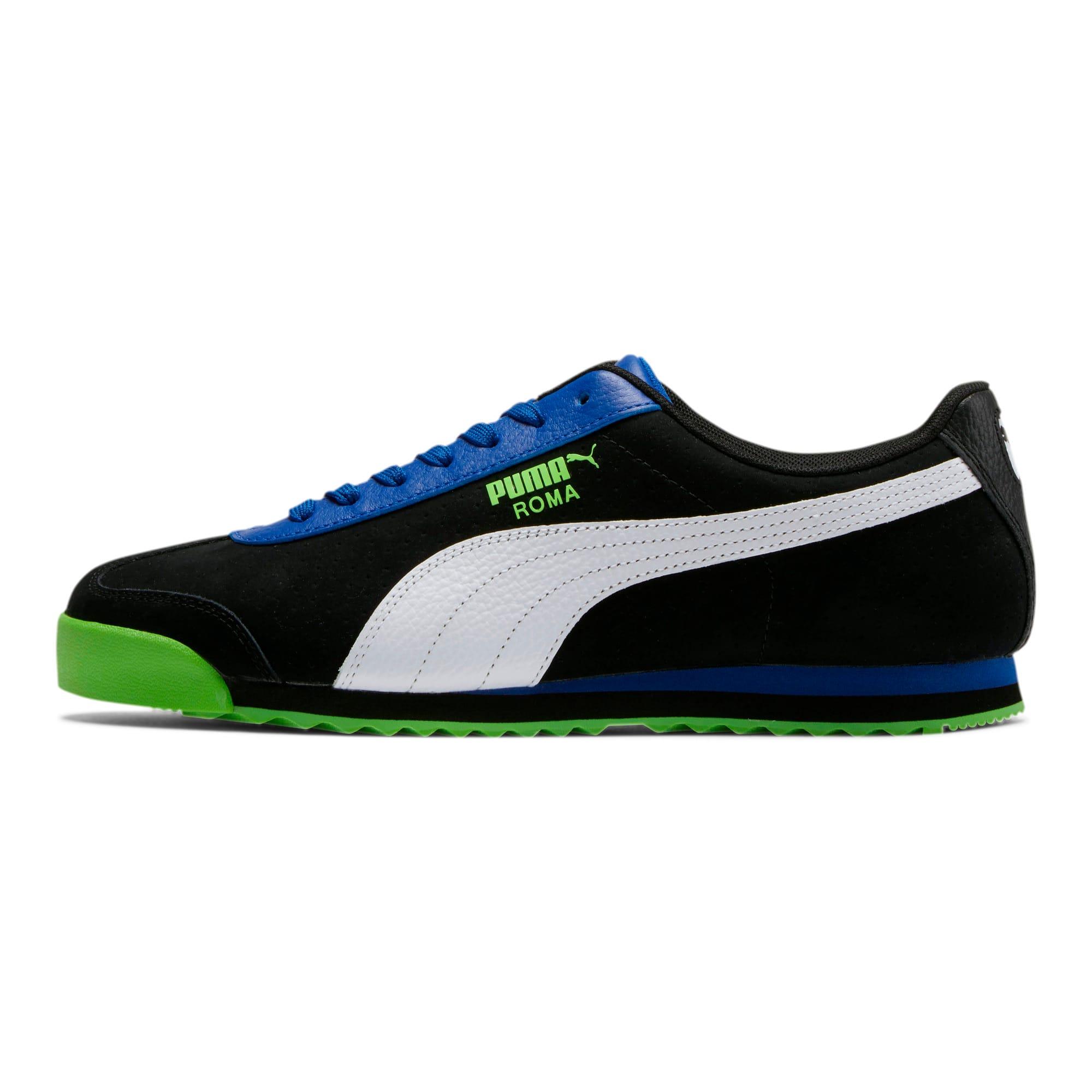 Thumbnail 1 of Roma XTG Perf Men's Sneakers, Puma Black-Surf The Web, medium