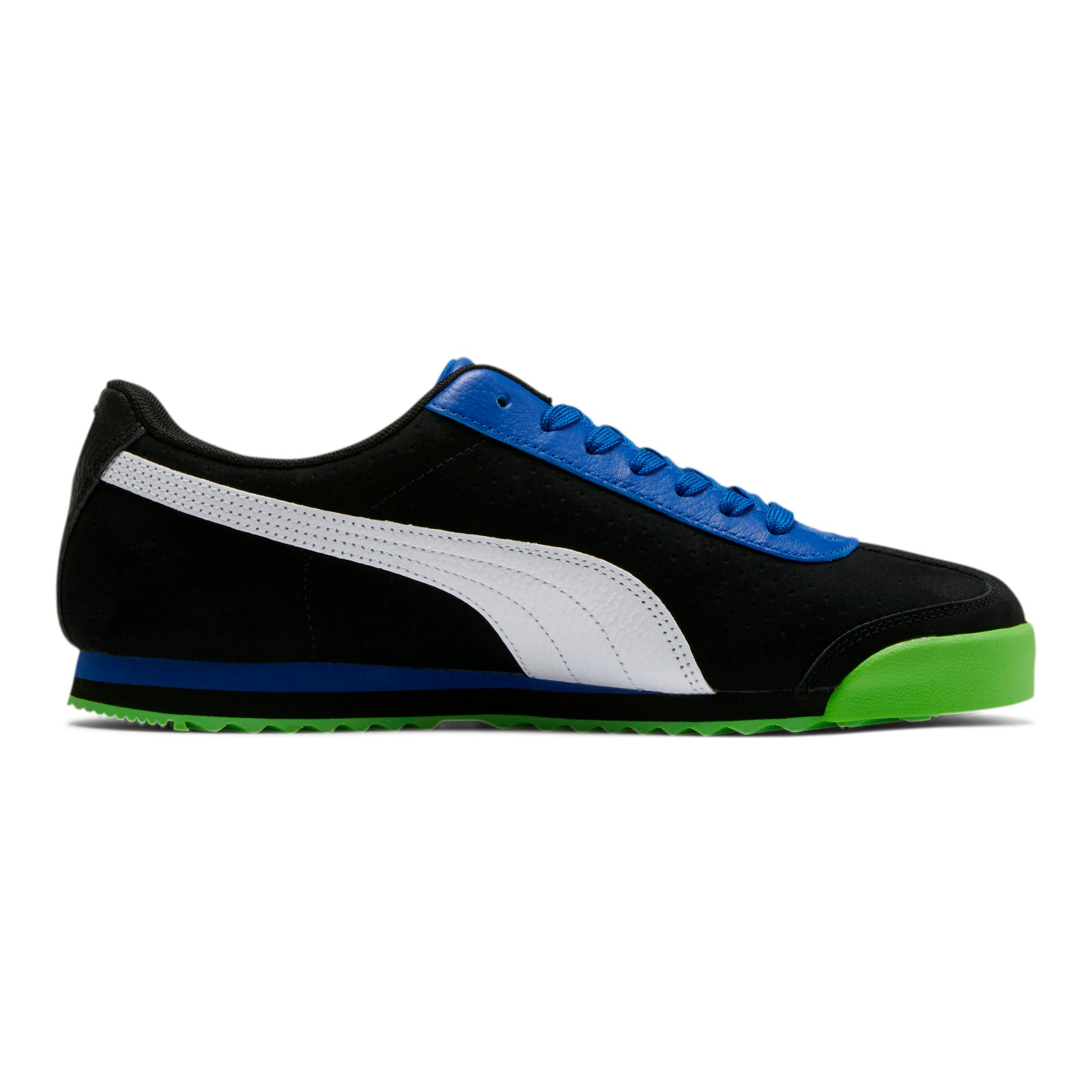Thumbnail 5 of Roma XTG Perf Men's Sneakers, Puma Black-Surf The Web, medium