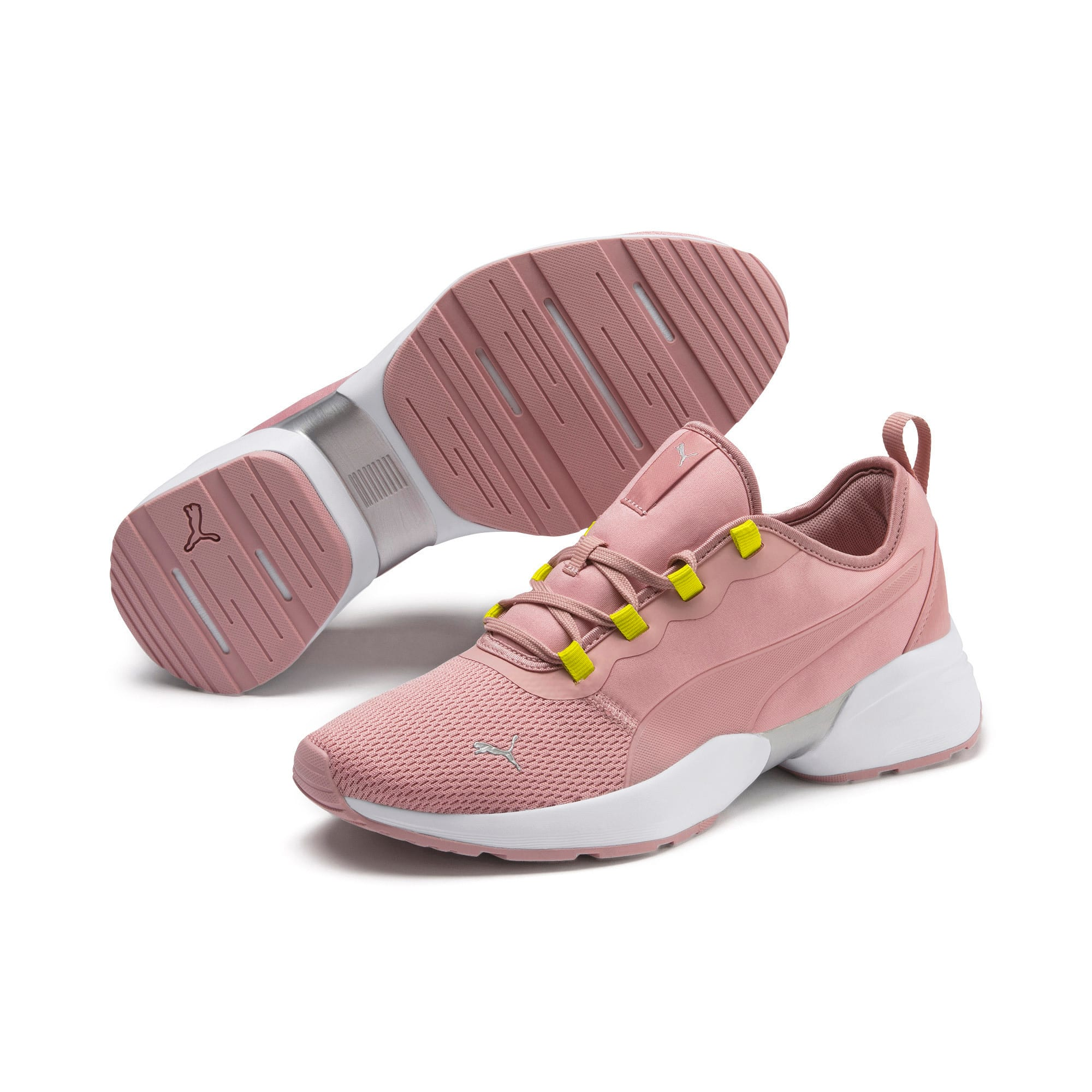 Thumbnail 3 of Sirena Sport Shift Women's Sneakers, Bridal Rose-Yellow Alert, medium