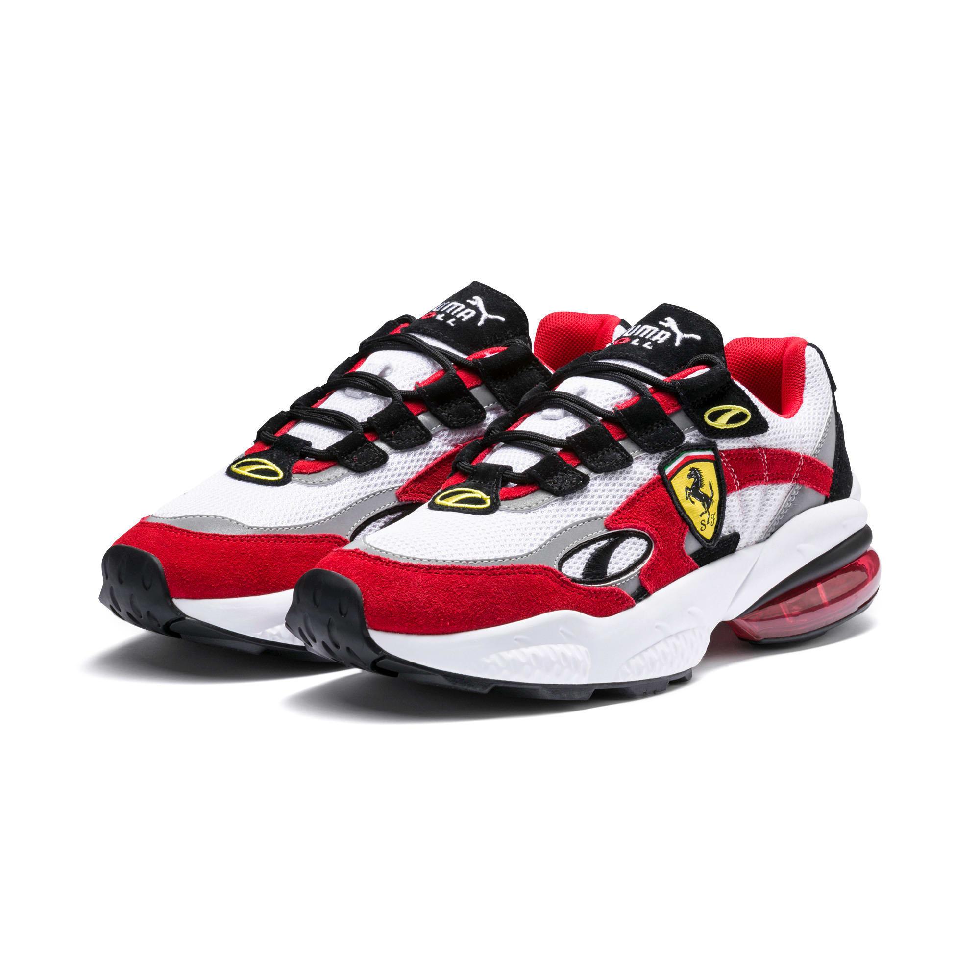 Thumbnail 2 of Scuderia Ferrari CELL Venom Sneakers, Puma White-Rosso Corsa, medium