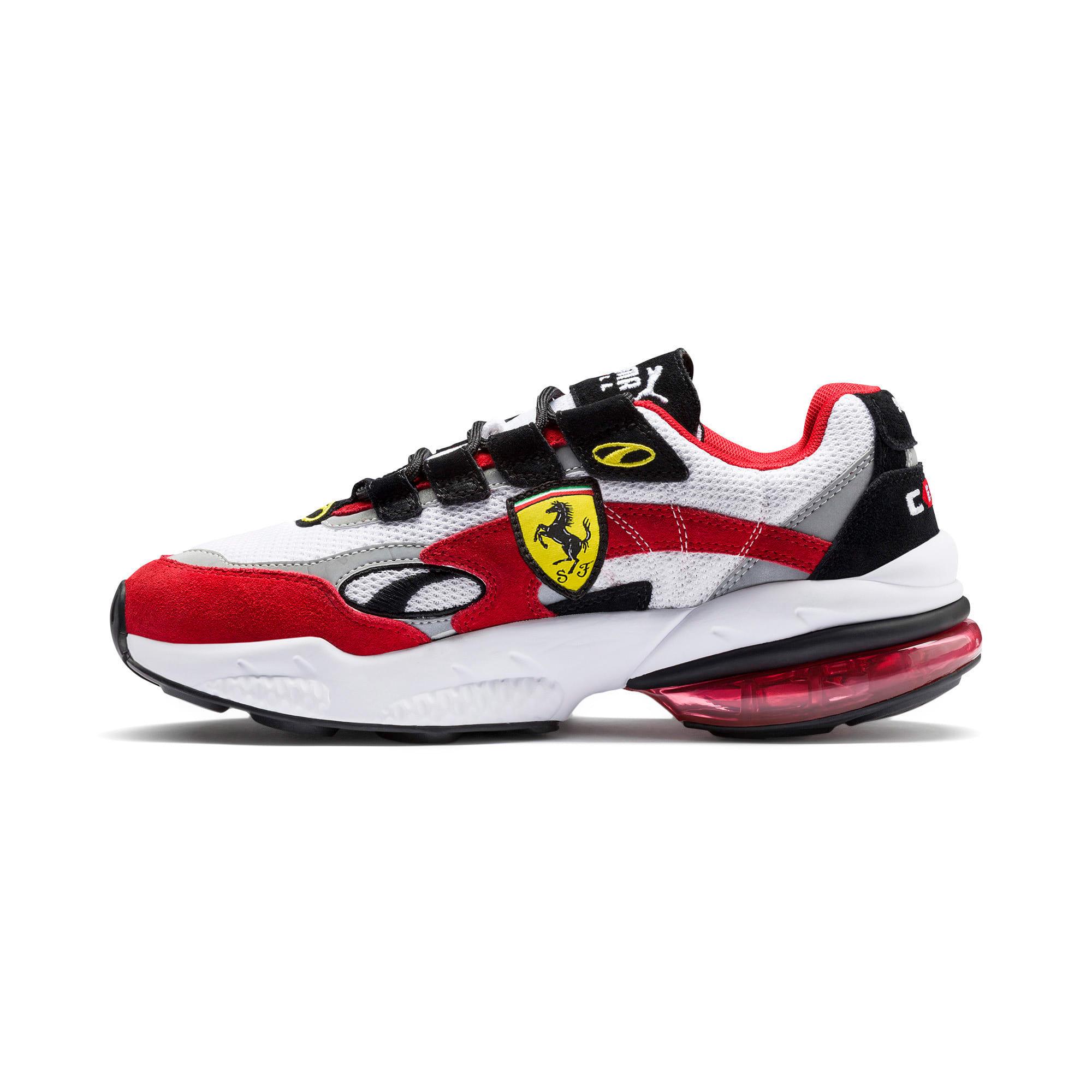 Thumbnail 1 of Scuderia Ferrari CELL Venom Sneakers, Puma White-Rosso Corsa, medium